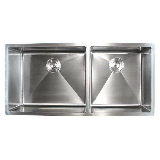Emodern decor ariel 42 x 19 double bowl undermount for Emodern decor