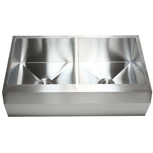 Stainless Steel Double Bowl Farmhouse Sink : ... 22
