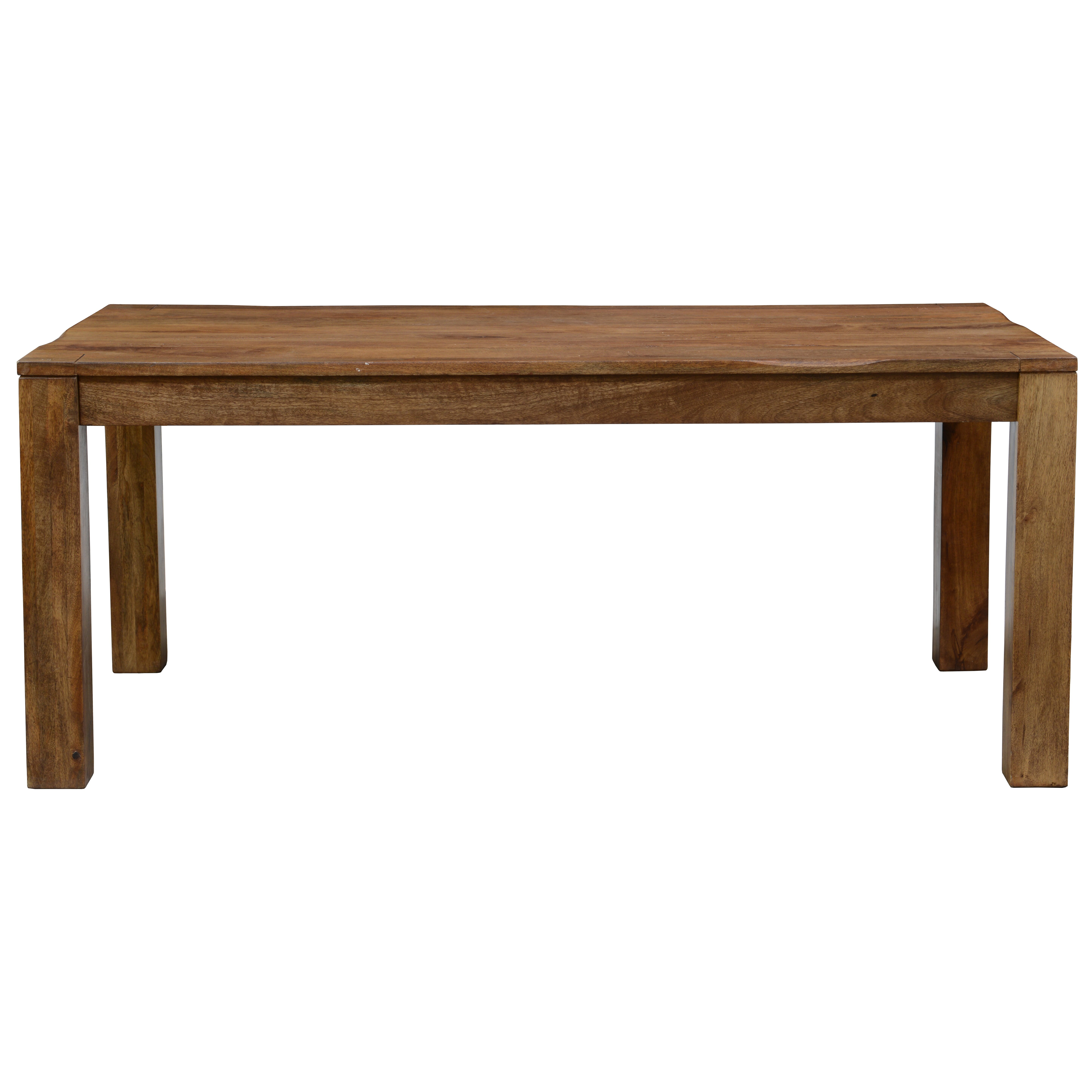 Laurel foundry modern farmhouse opheim wood kitchen table for Wood top kitchen table