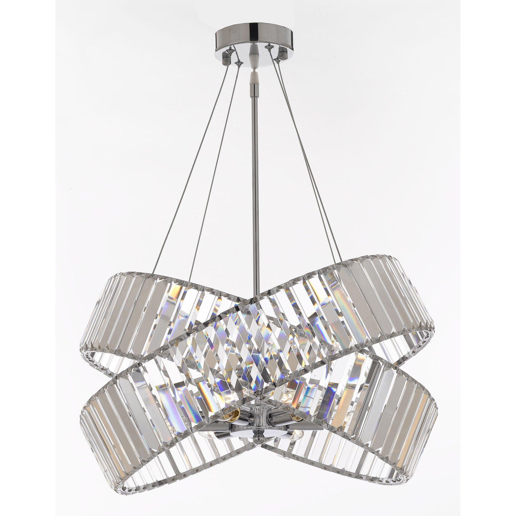 Harrison lane 6 light crystal chandelier wayfair for 6 light crystal chandelier