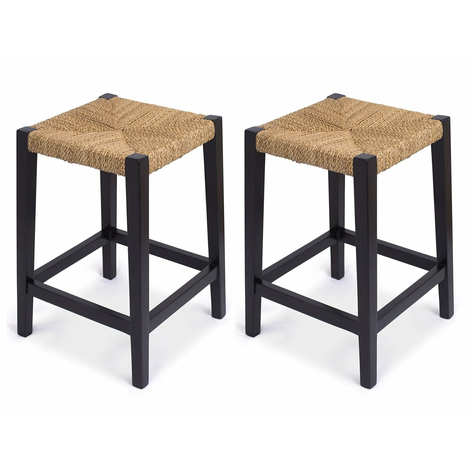 Birdrock home rush weave 24 counter height bar stool for Counter height bar stools