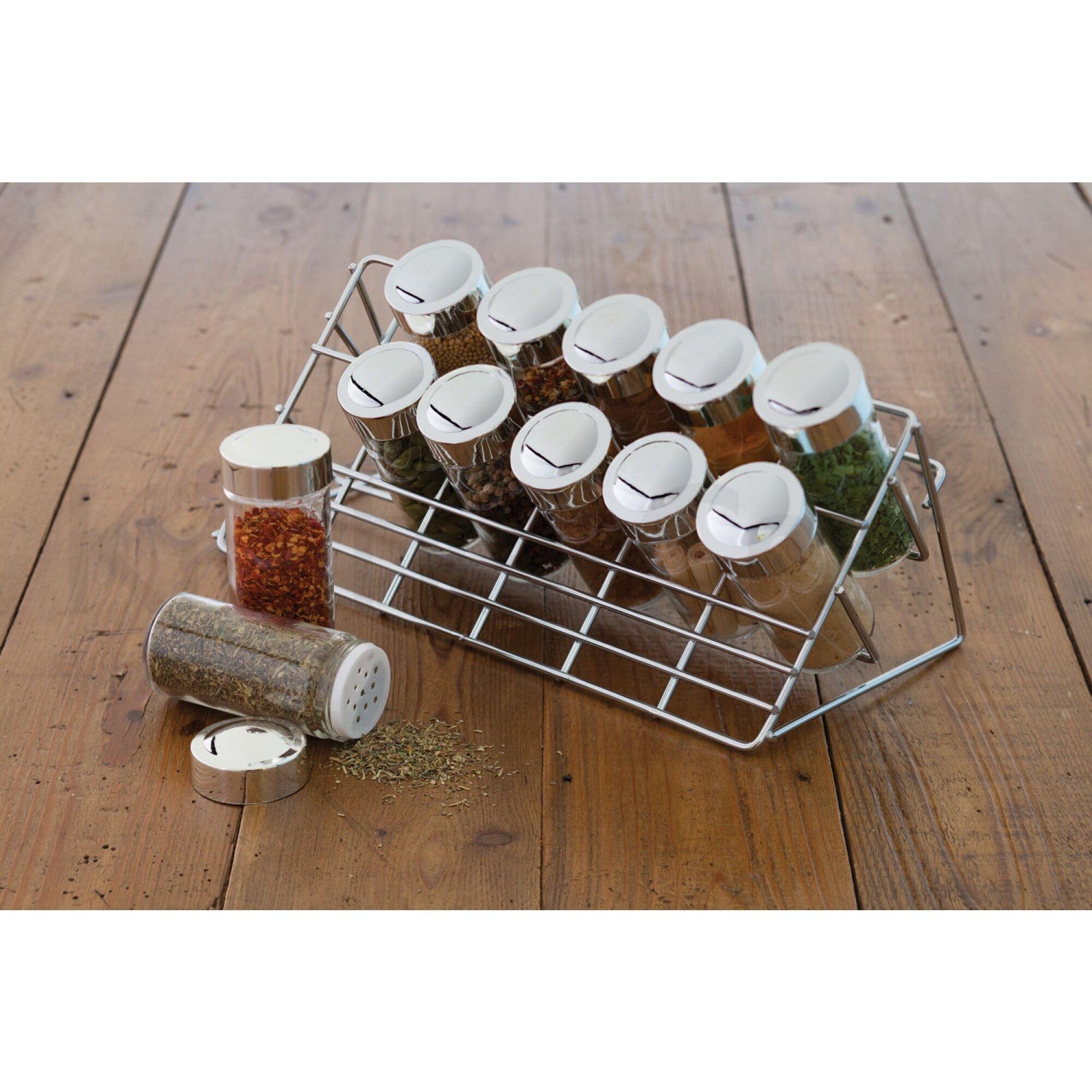 Kitchen Rack Set: Kitchen Craft Chrome Plated 13 Piece Spice Rack Set