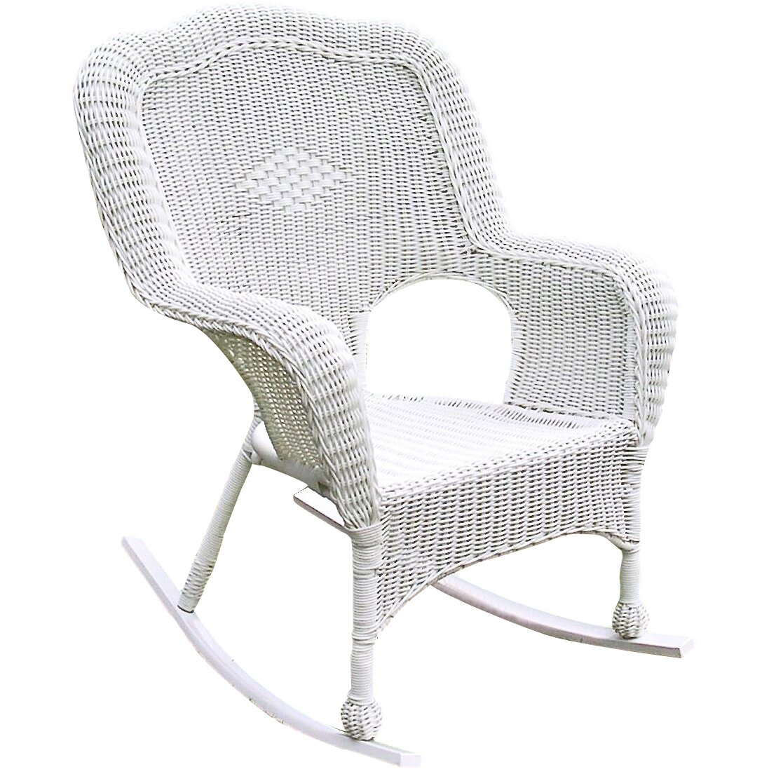 International Caravan Chelsea Outdoor Wicker Resin Patio Rocking Chair &