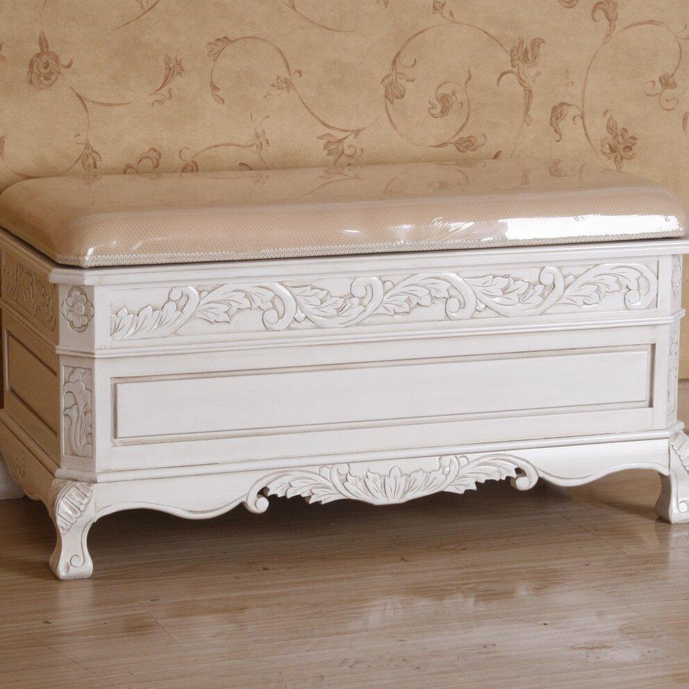 International Caravan Windsor Antique White Wood Indoor