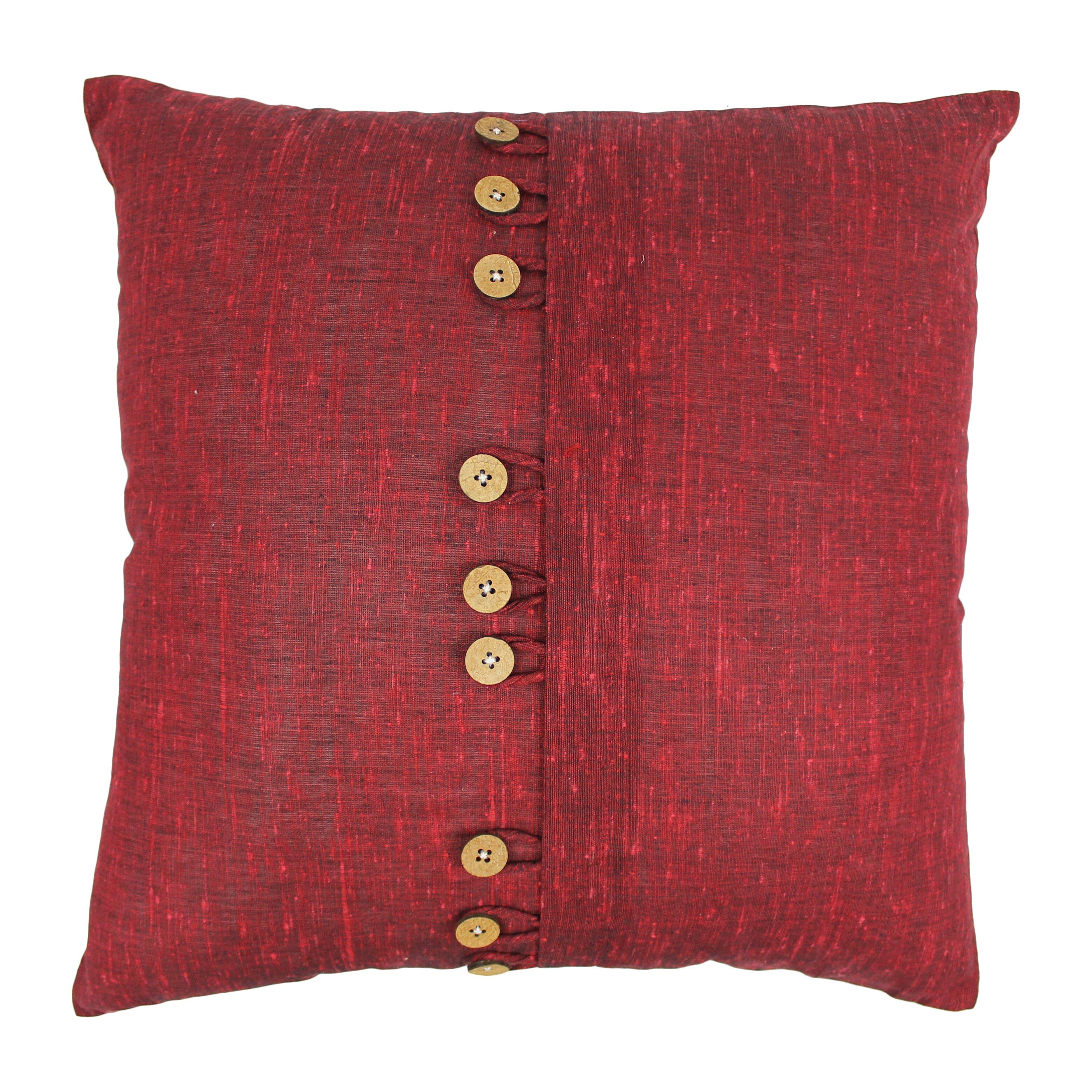Throw Pillows With Big Buttons : Blazing Needles Nine Button Throw Pillow & Reviews Wayfair