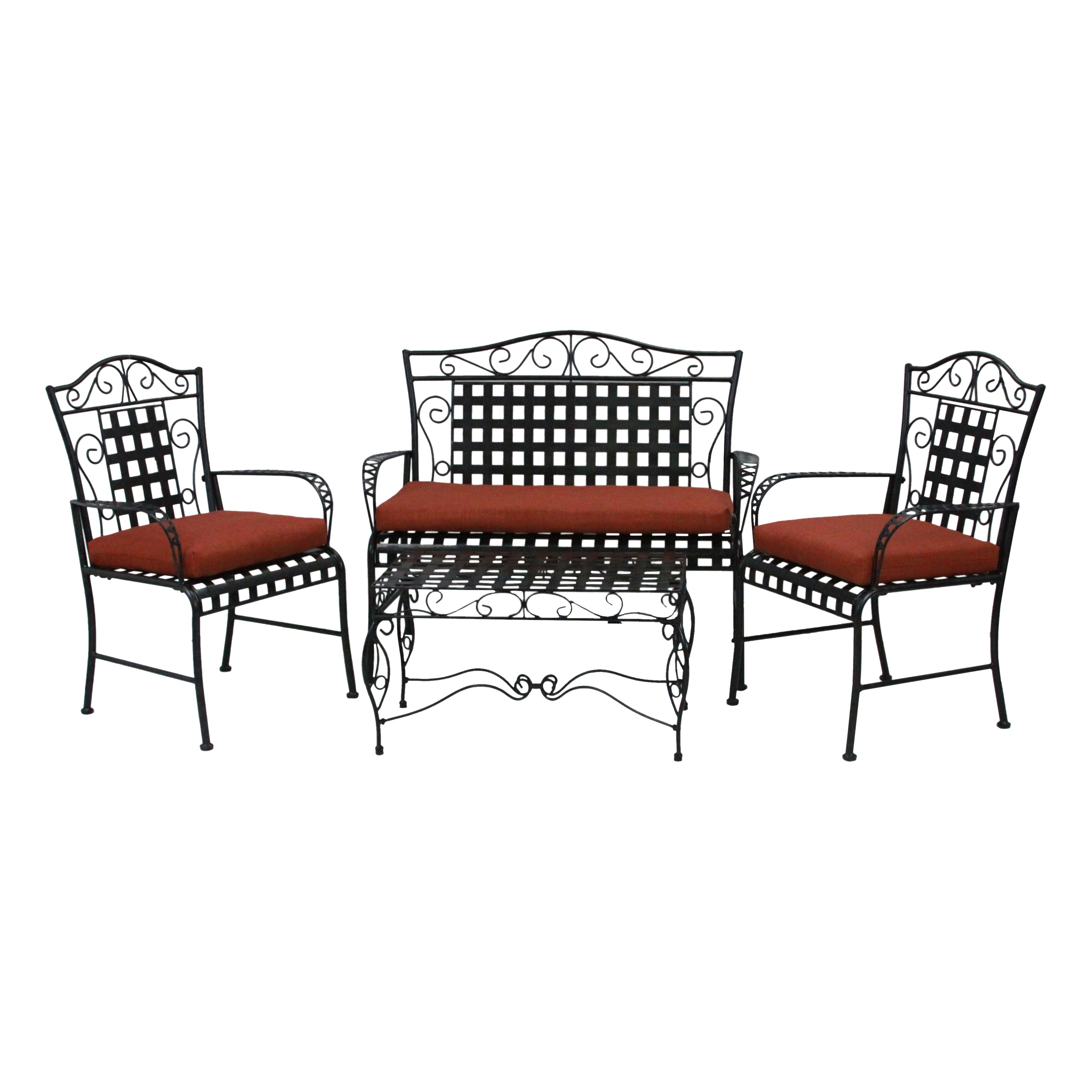 Blazing Needles 3 Piece Outdoor Dining Chair And Loveseat Cushion Set Reviews Wayfair