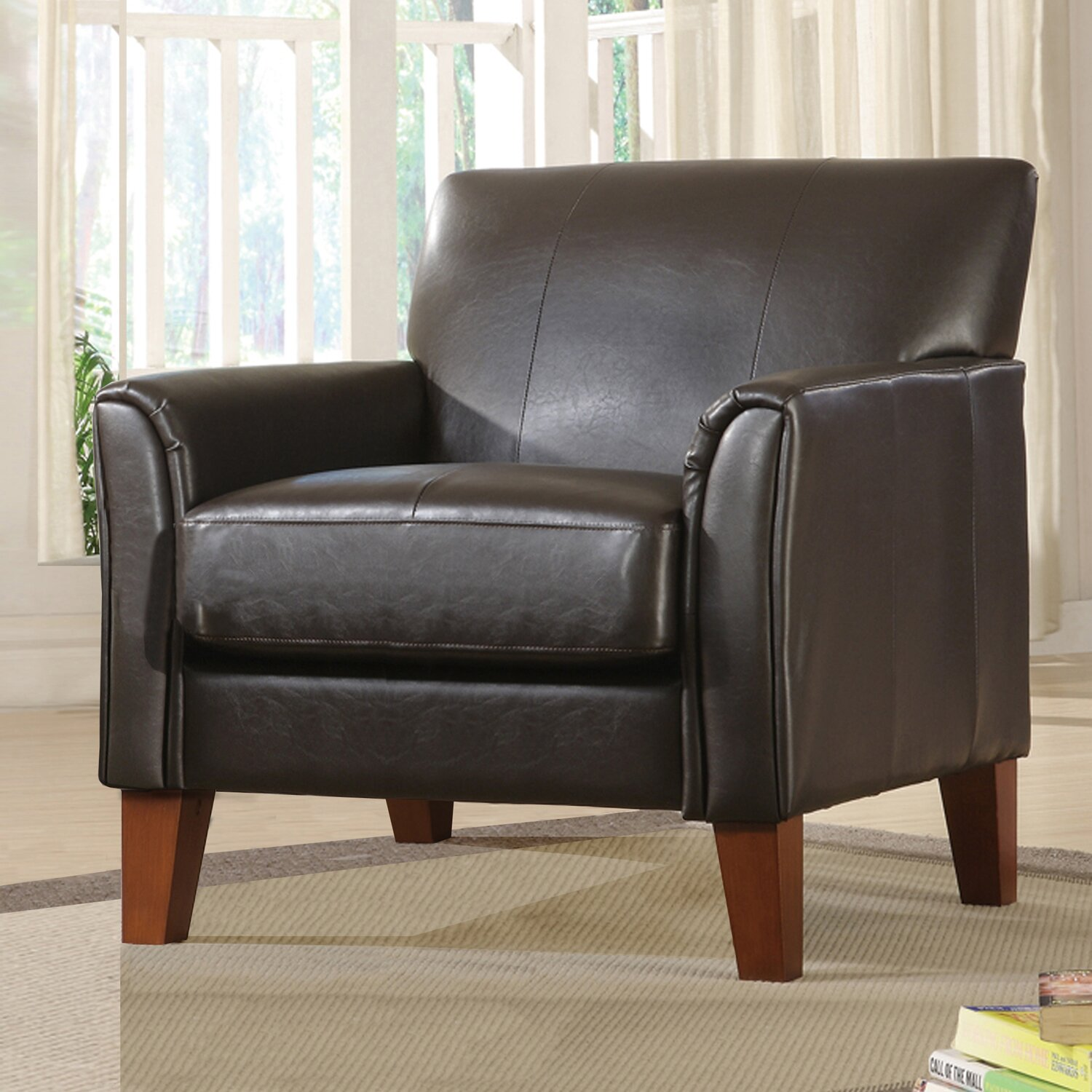 Courtney Armchair and Ottoman Set - furniturefairstore.com