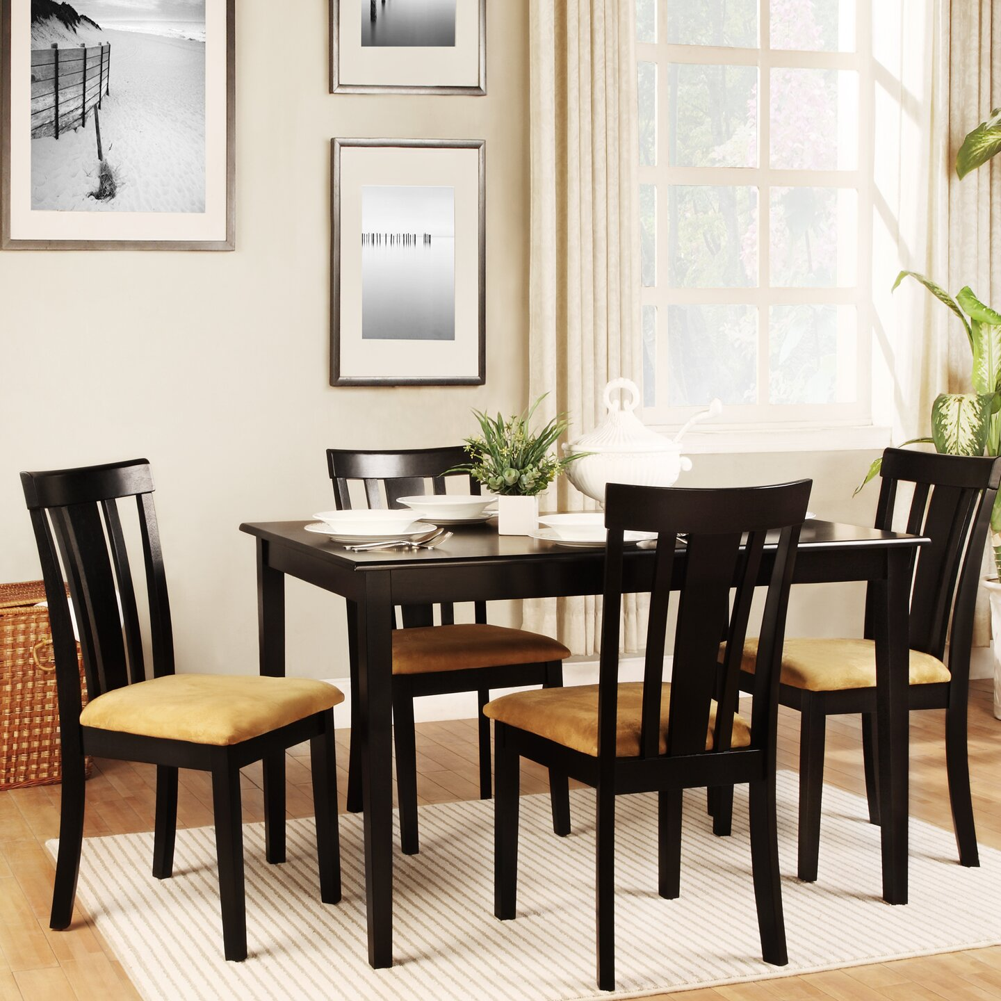 5 Piece Dining Room Sets Amazon Com: Kingstown Home Jeannette 5 Piece Dining Set & Reviews