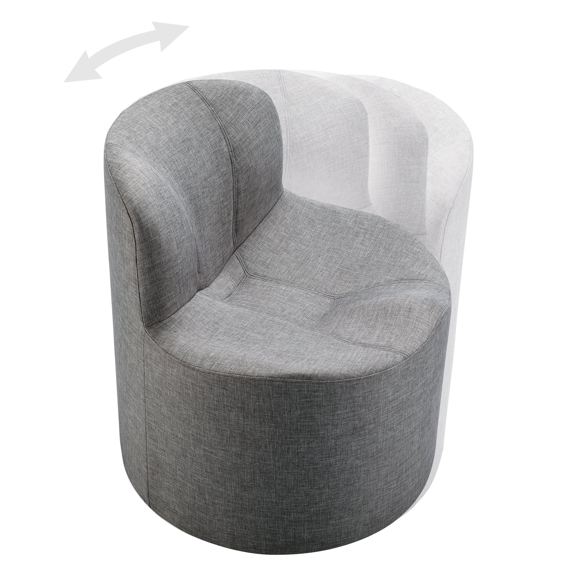 Kingstown Home Barnabas Round Swivel Side Chair & Reviews ...