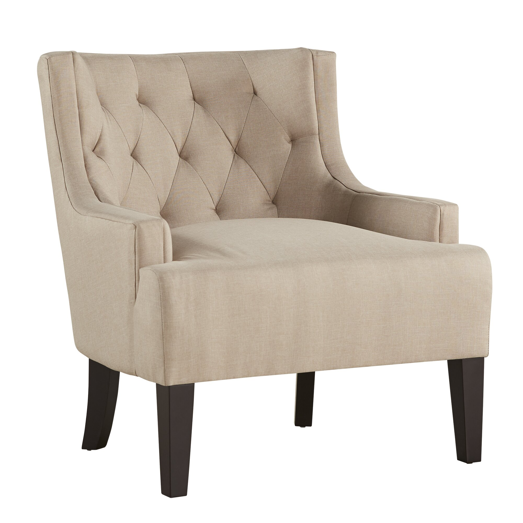 Kingstown home dawan tufted accent arm chair reviews for Furniture chairs
