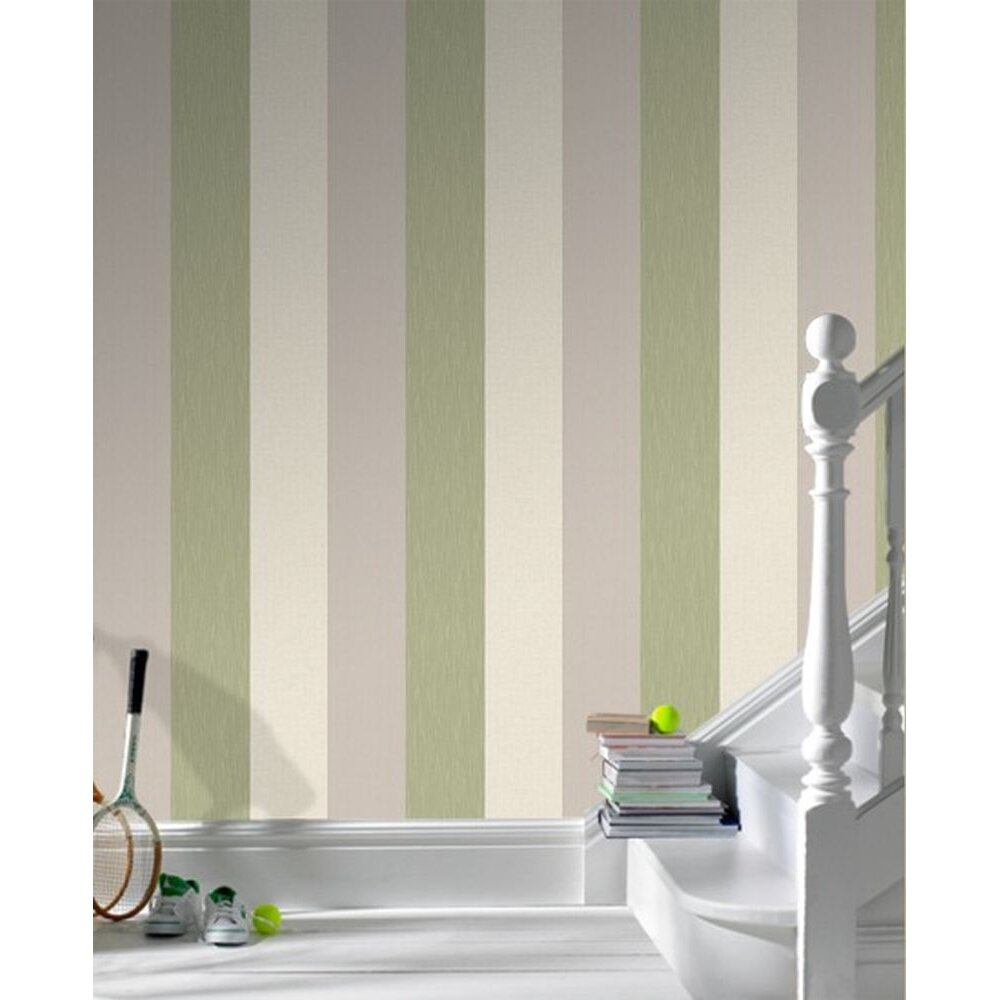 Superfresco java stripe 10m l x 52cm w stripes roll for Wayfair bathroom wallpaper