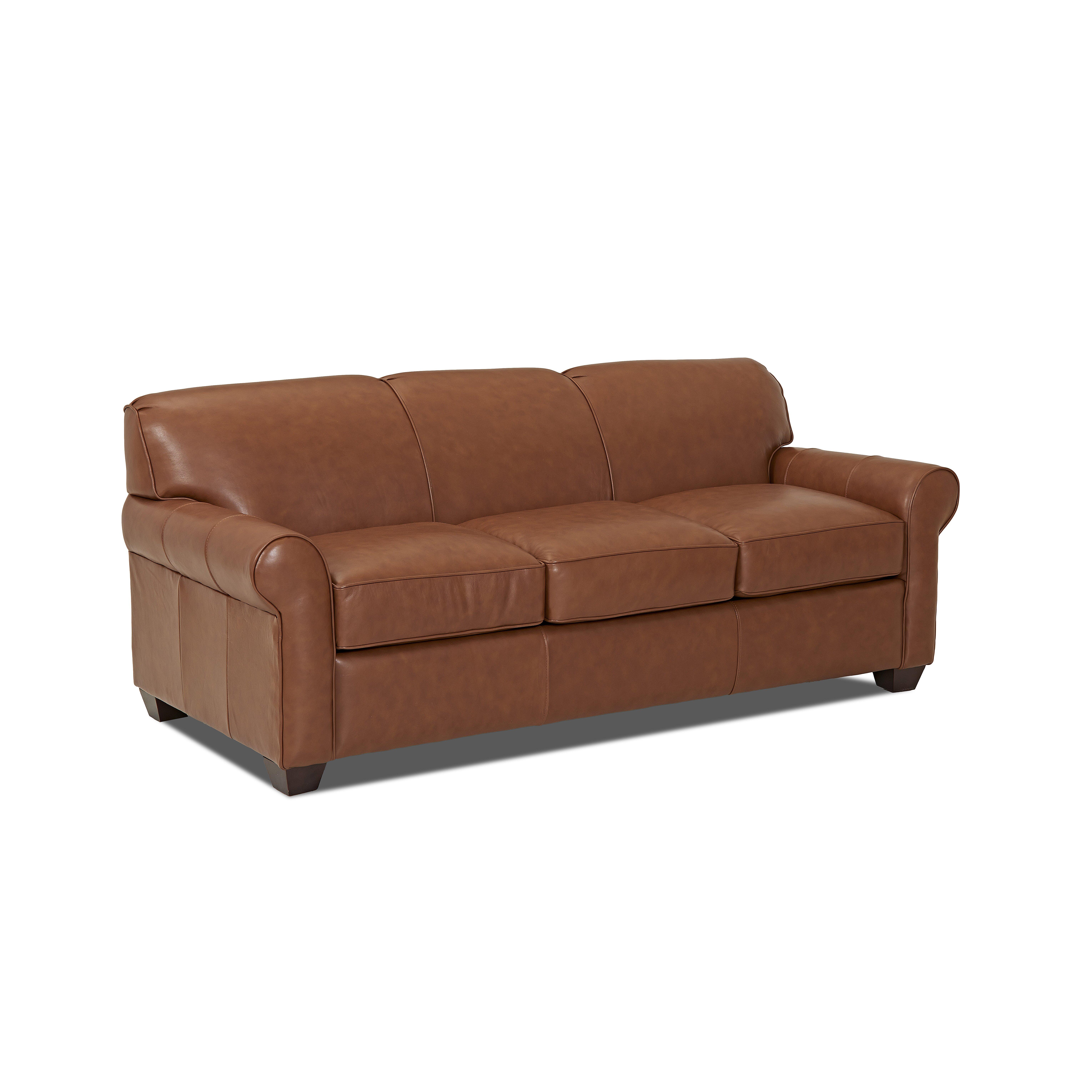 Wayfair custom upholstery jennifer leather sofa reviews for Leather sofa reviews