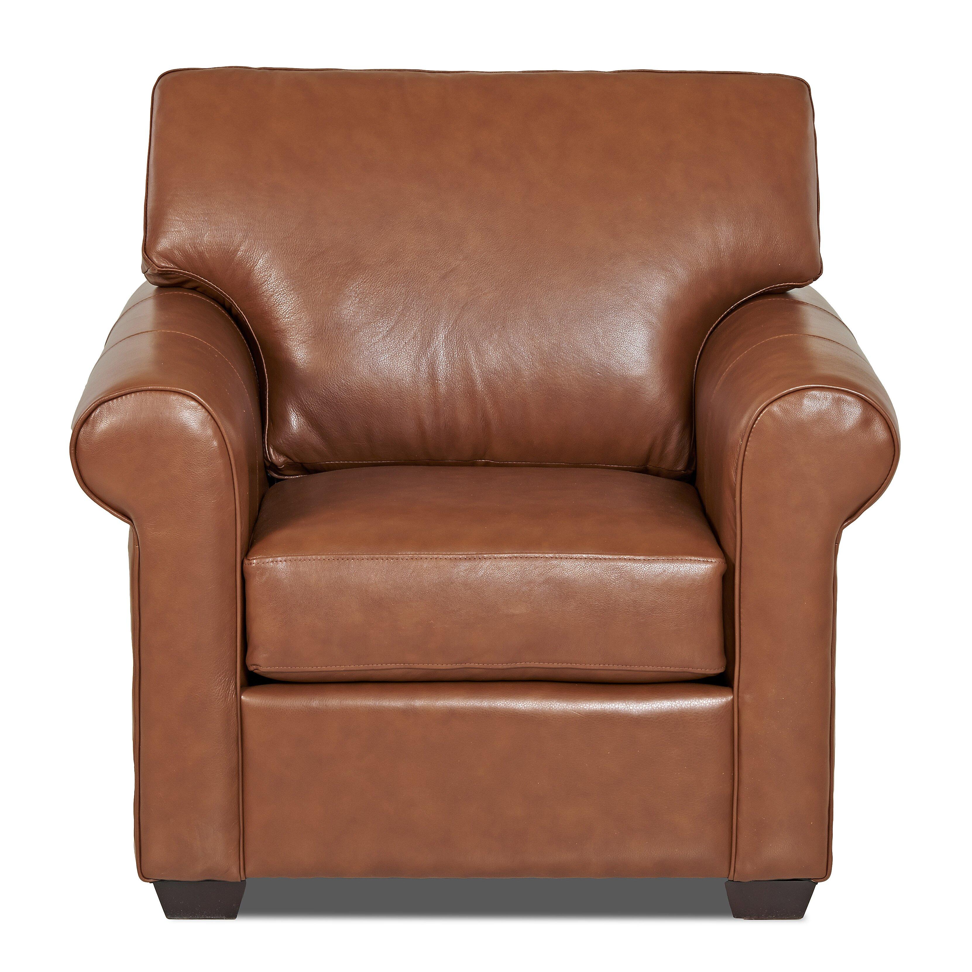 Wayfair Custom Upholstery Rachel Leather Arm Chair ...