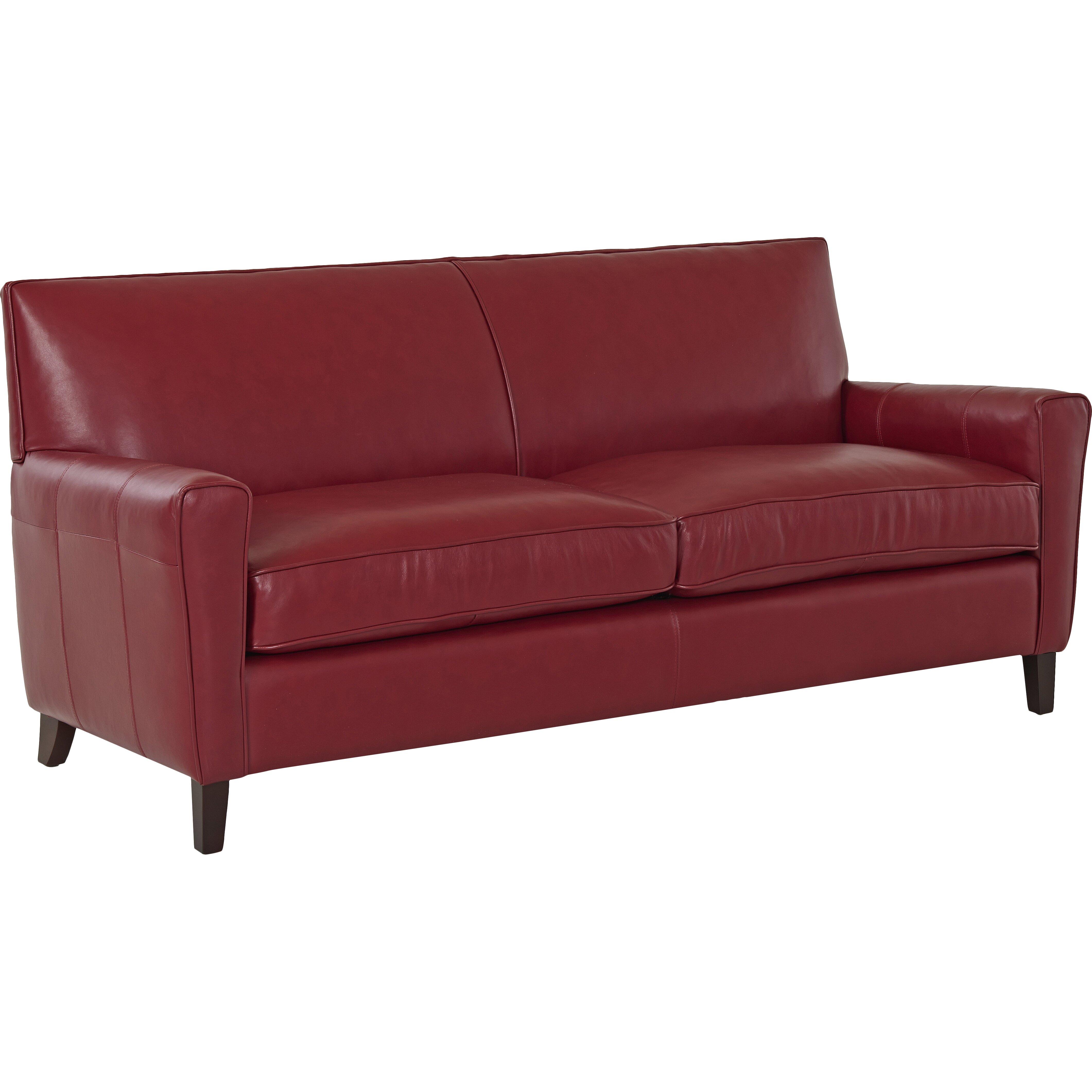Wayfair custom upholstery grayson leather sofa reviews for Leather sofa reviews
