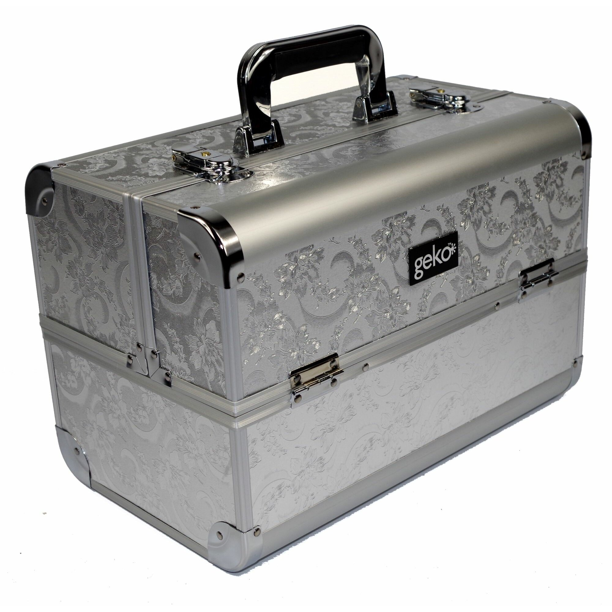 Geko Products Vanity Case Makeup Box In Silver amp Reviews