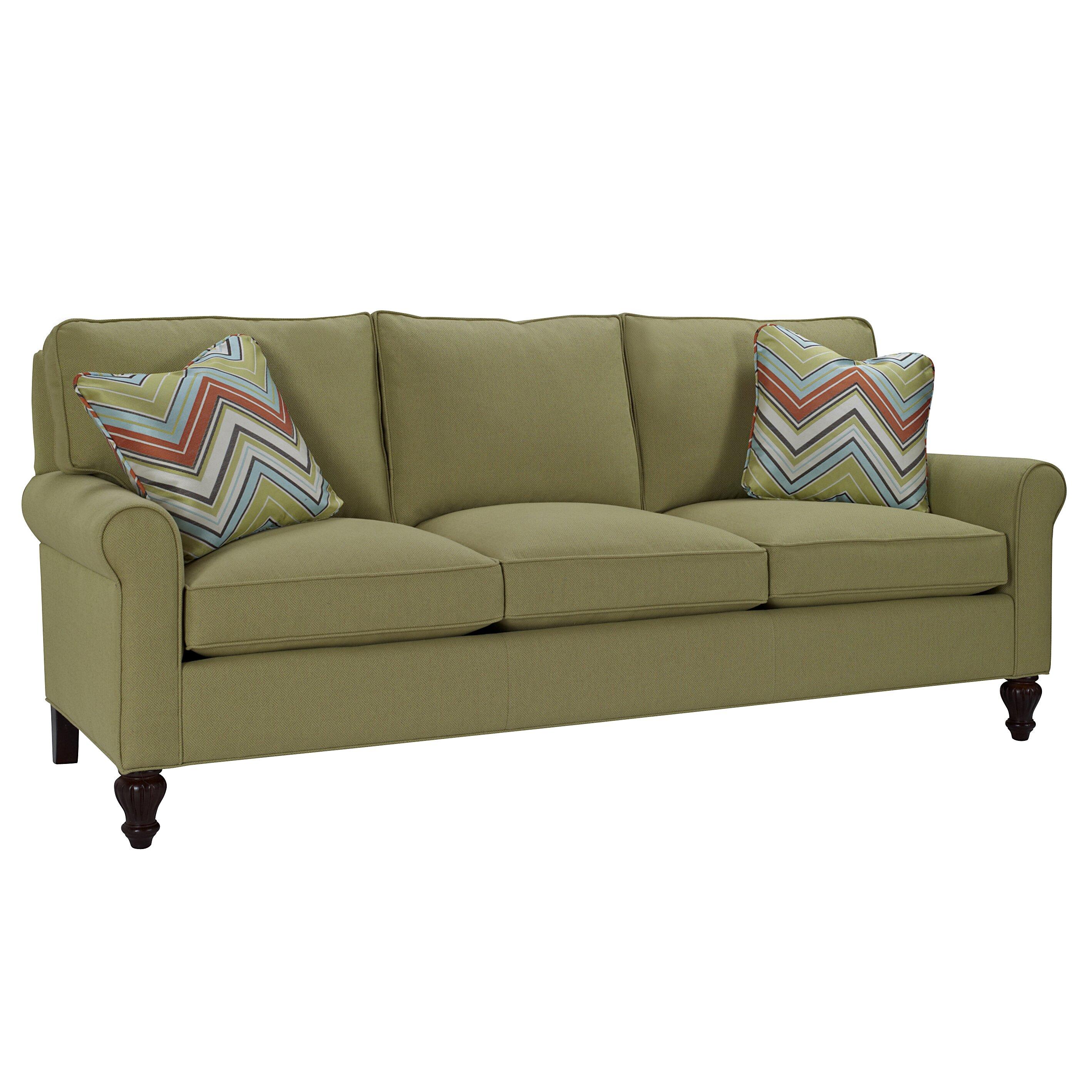 Classic Comfort Curved Arm Three Loose Pillow Back Sofa Wayfair
