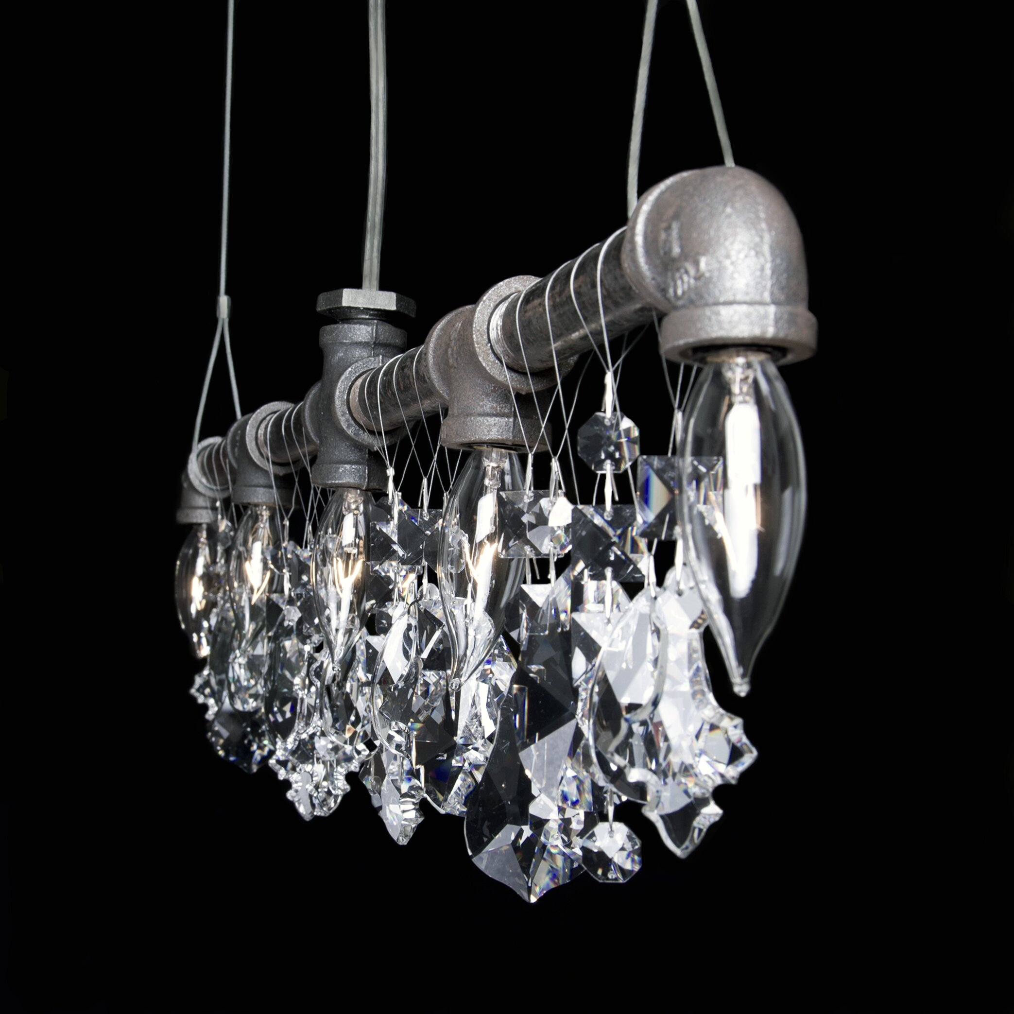 Trendy Chandeliers: Michael McHale Designs Tribeca 5 Light Bar Chandelier