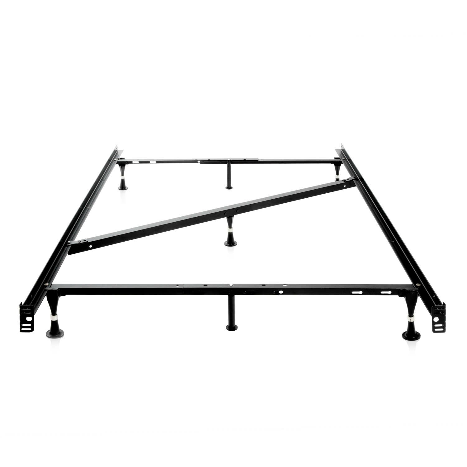 Malouf 7 Leg Adjustable Metal Bed Frame With Center