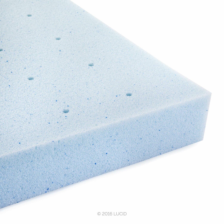 "Lucid 3"" Gel Memory Foam Mattress Topper & Reviews"