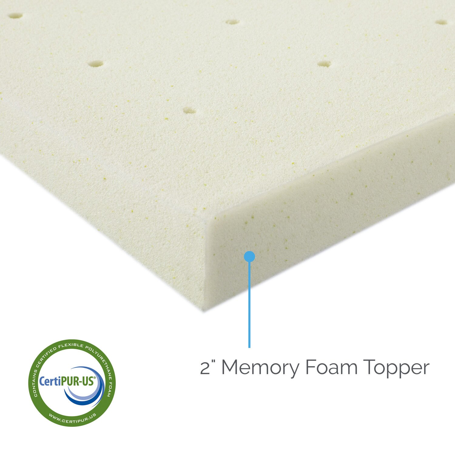 Lucid Memory Foam Mattress Topper Reviews Wayfair
