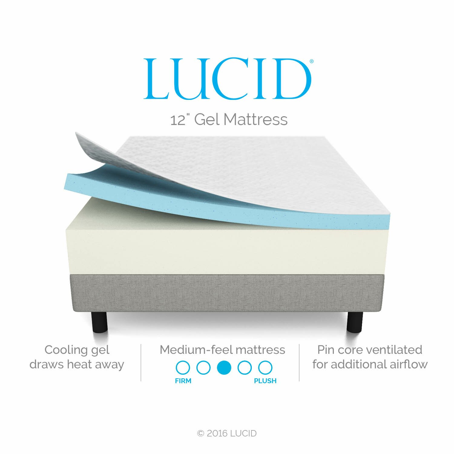 Lucid 12 memory foam mattress reviews wayfair Memory foam mattress buy