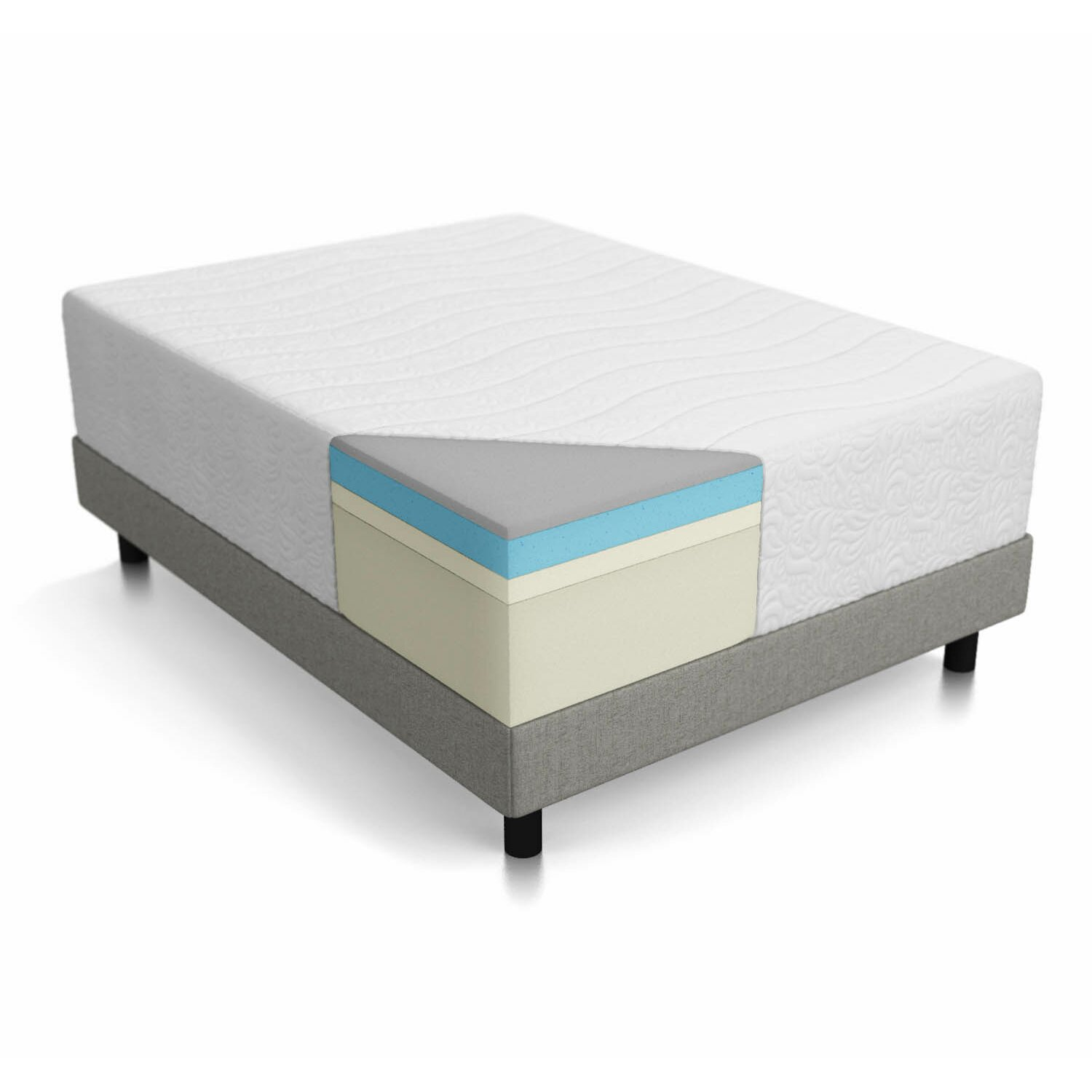 Lucid 16 gel memory foam mattress reviews wayfair Mattress sale memory foam
