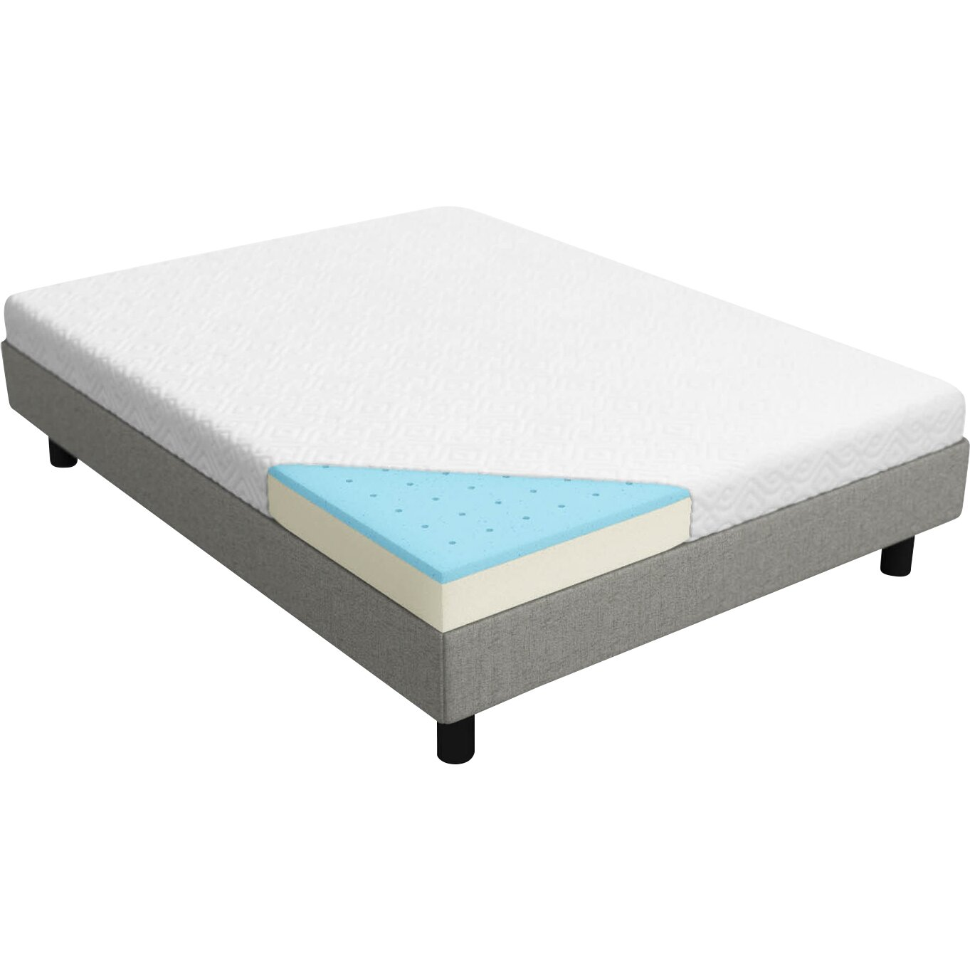 Lucid 5 gel memory foam mattress reviews Mattress sale memory foam