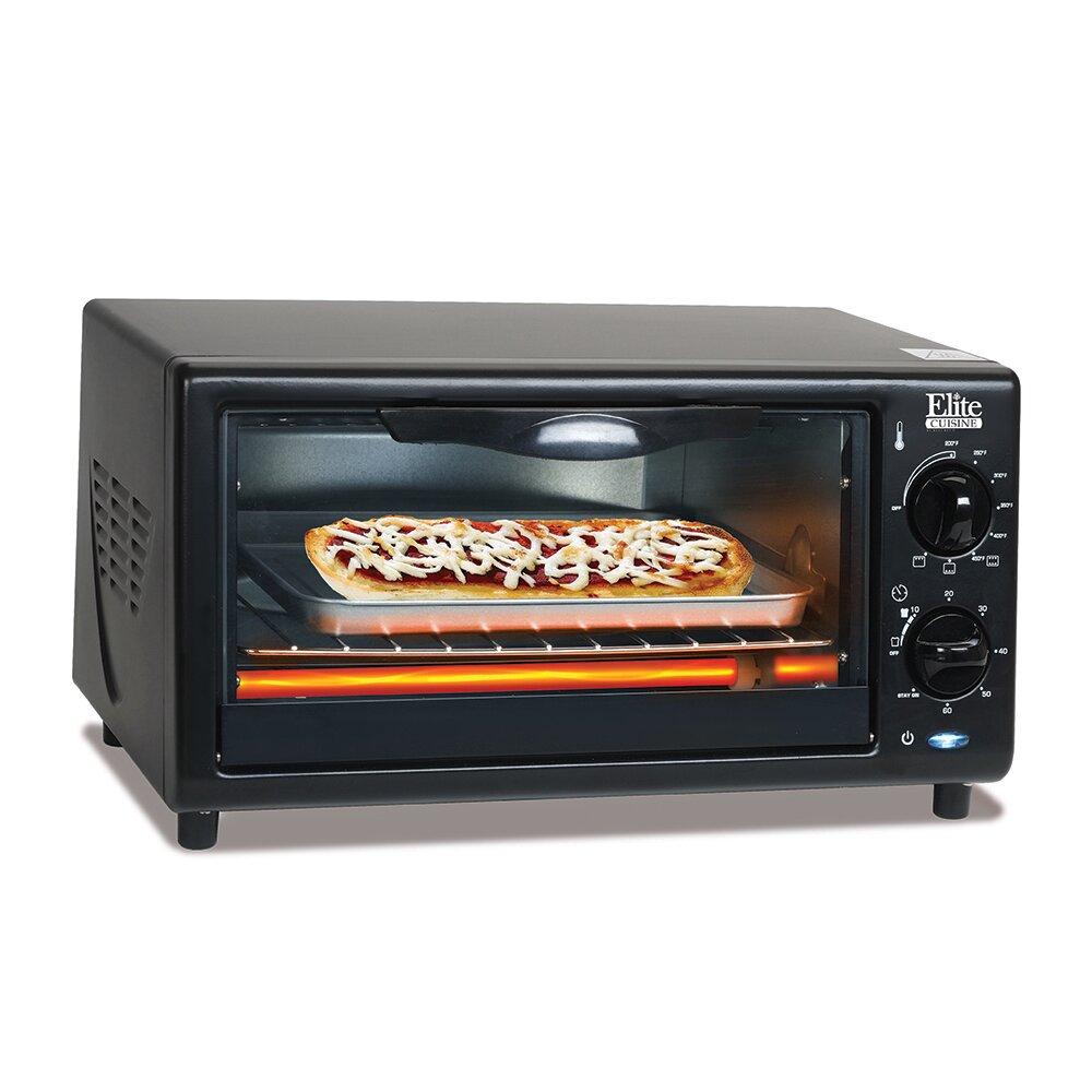 Elite Countertop Oven : Elite by Maxi-Matic Cuisine 4-Slice Oven Broiler Toaster Oven ...