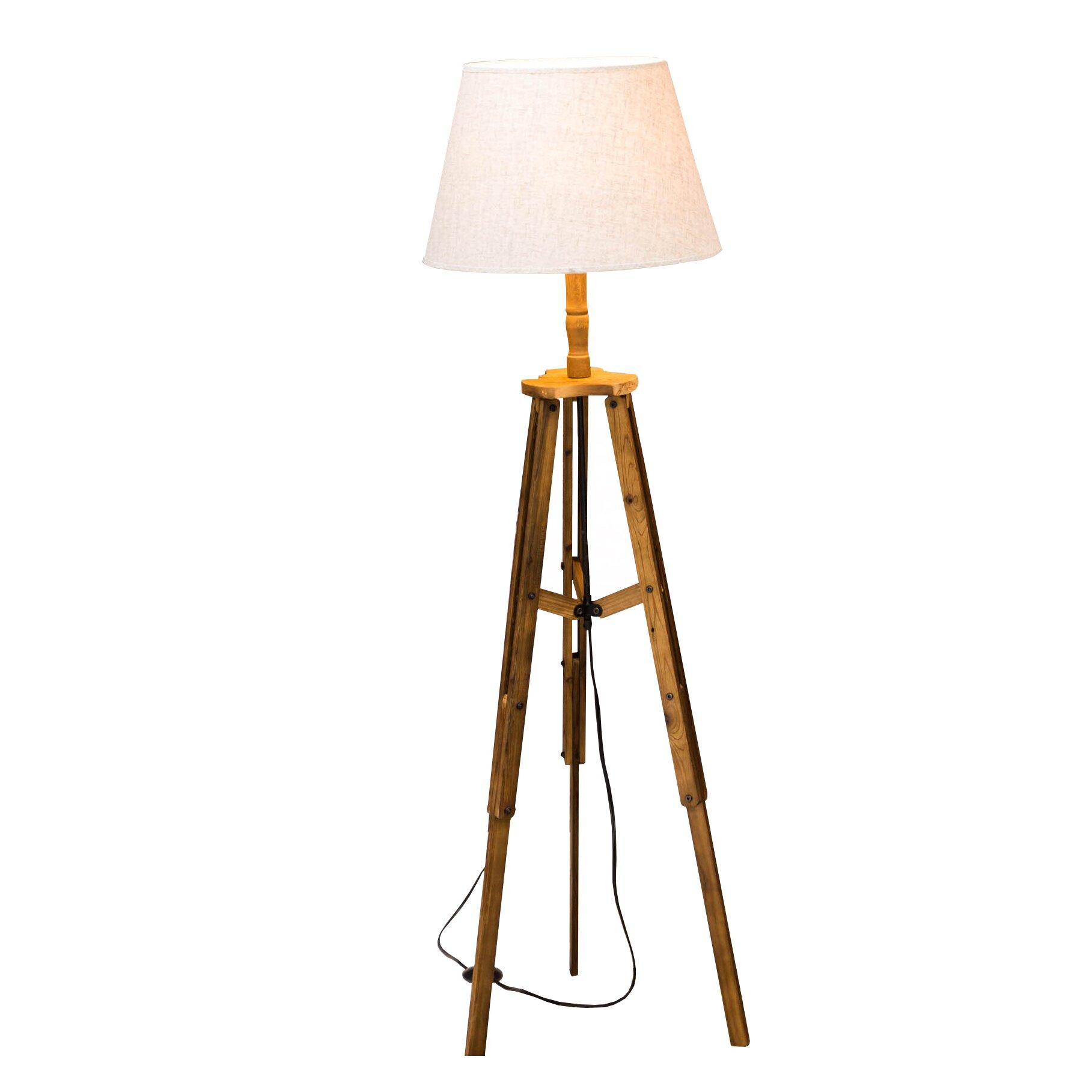 Bombay steampunk 59quot tripod floor lamp wayfair for Wayfair wood floor lamp
