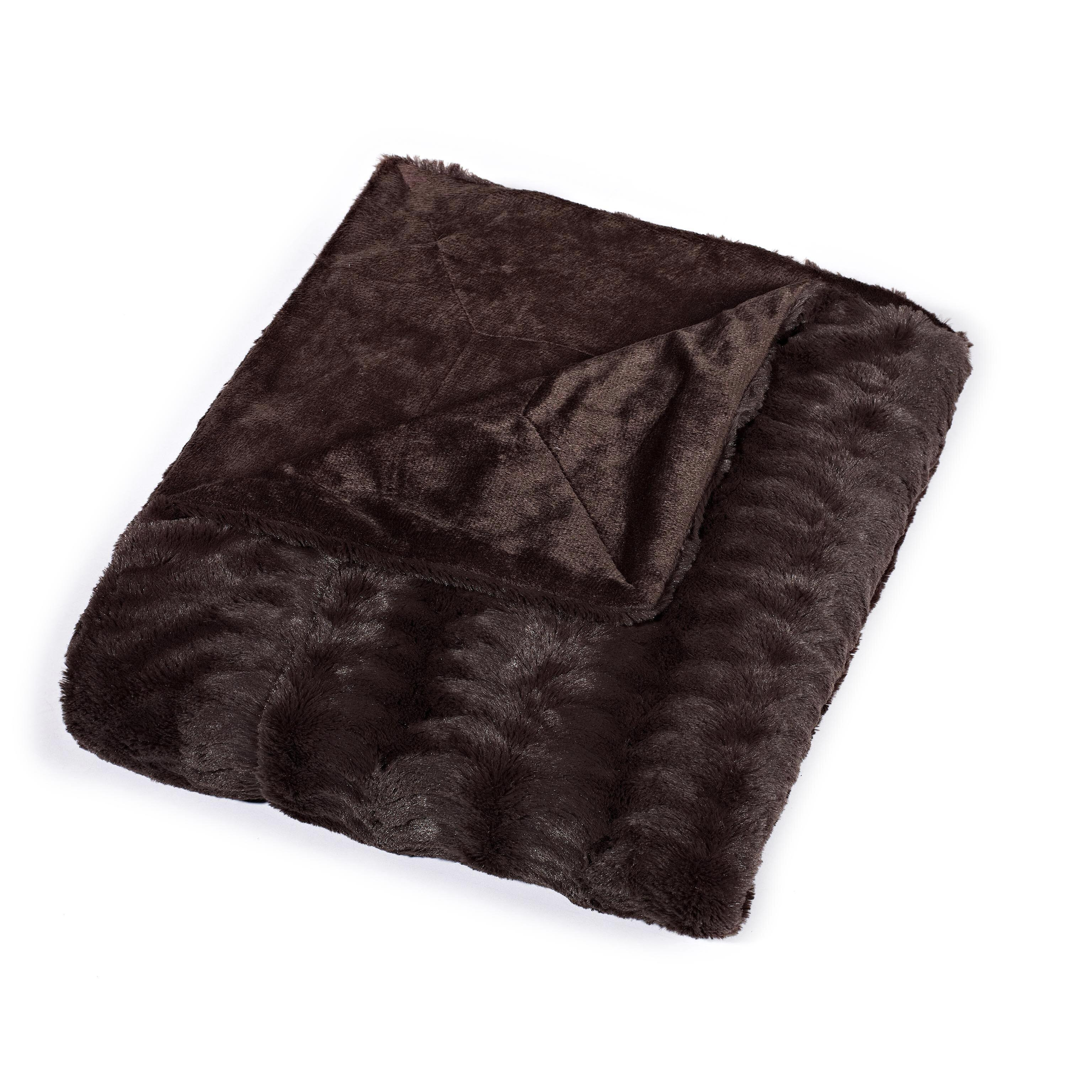 Cathay Home Inc Luxe Mink Fur Throw Blanket Amp Reviews