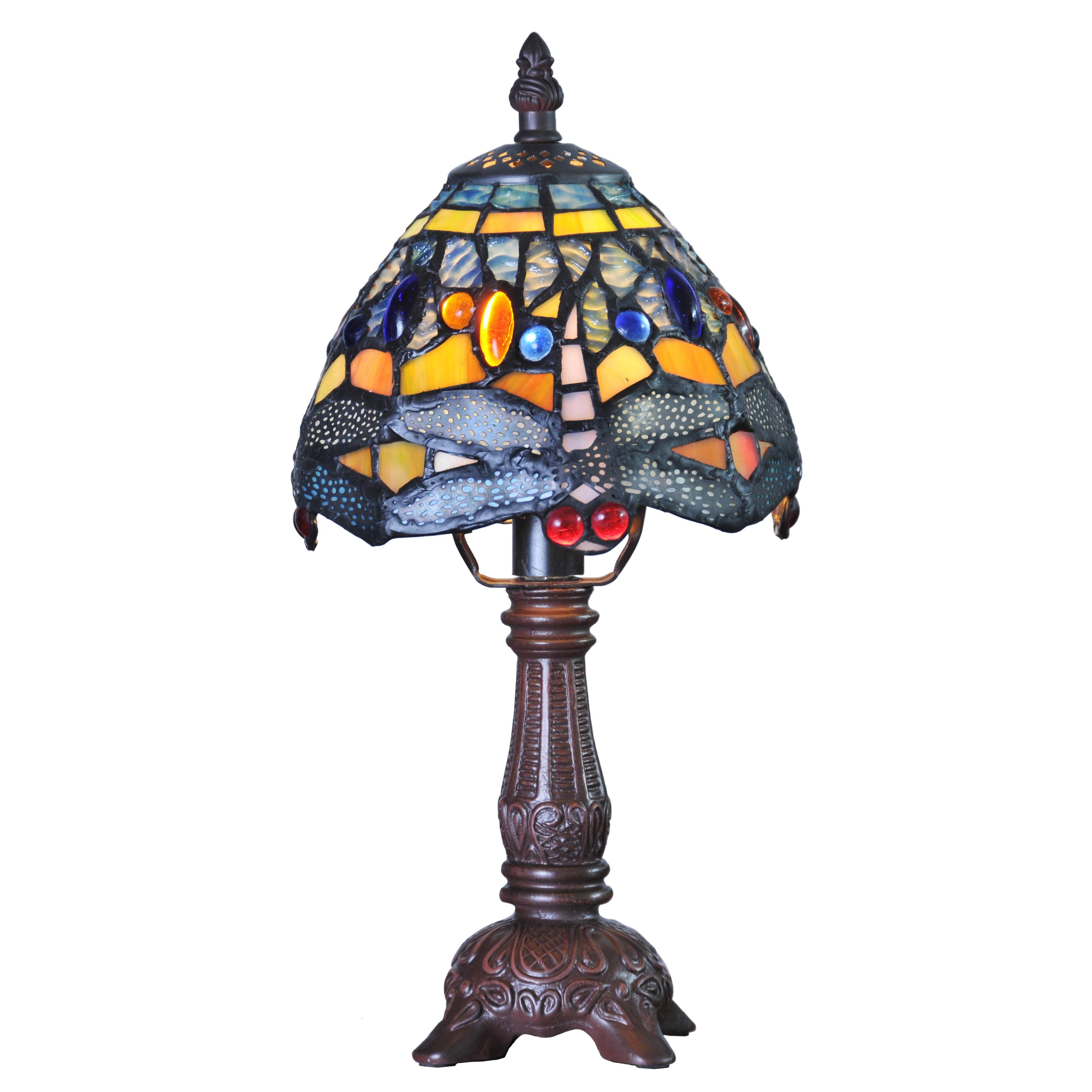 Hanging Table Lamp: River Of Goods Mini Hanging Head Dragonfly Tiffany 12