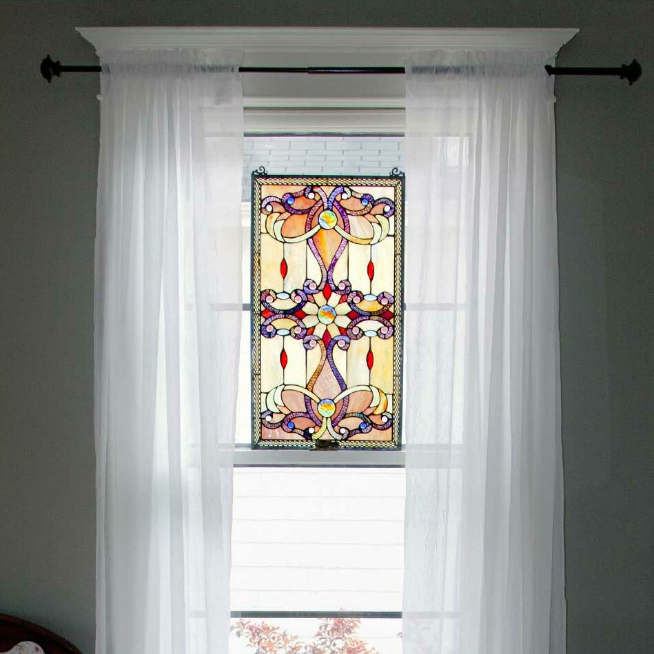 River of goods brandi 39 s tiffany style stained glass window for Glass window wall
