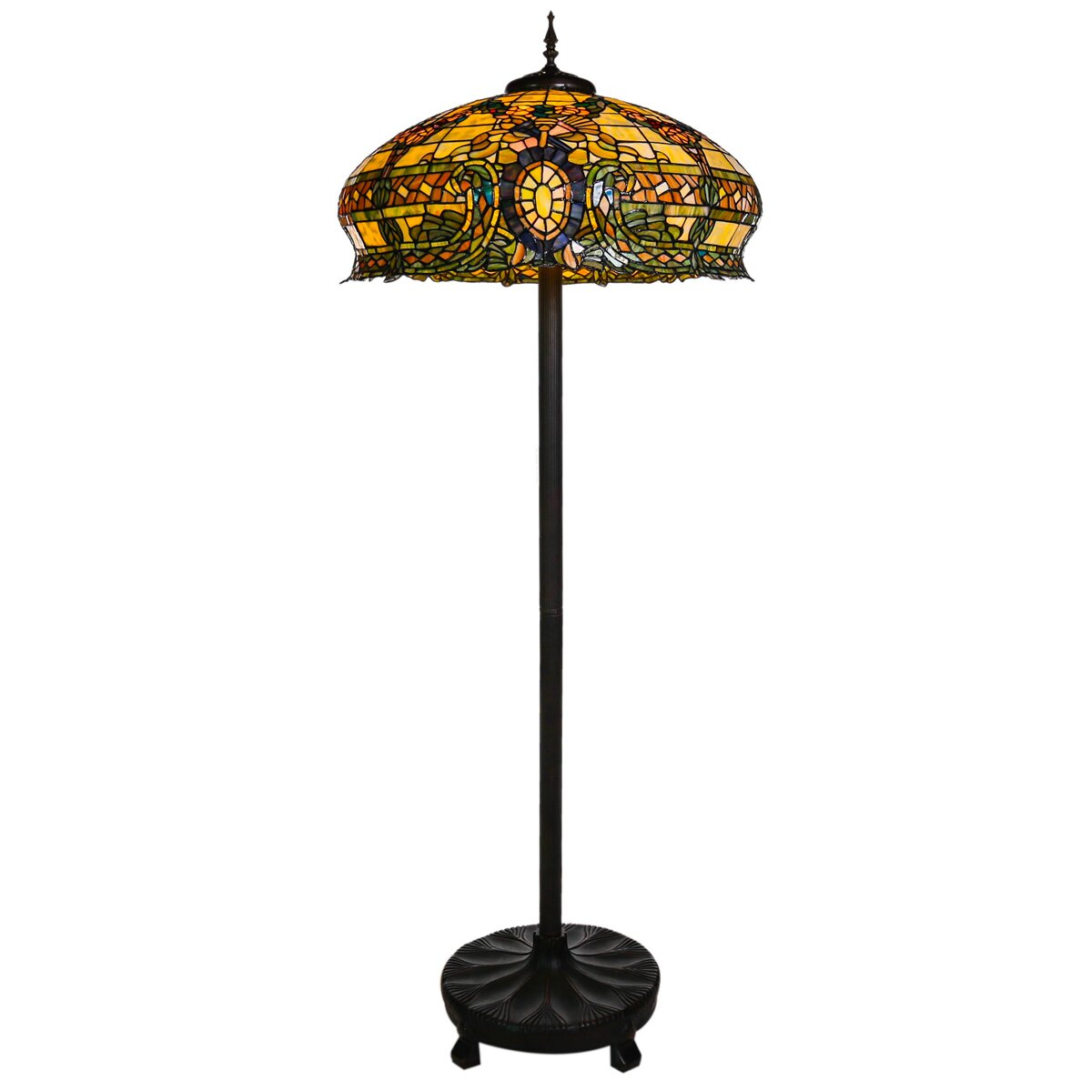 Living Rooms With Tiffany Lamps