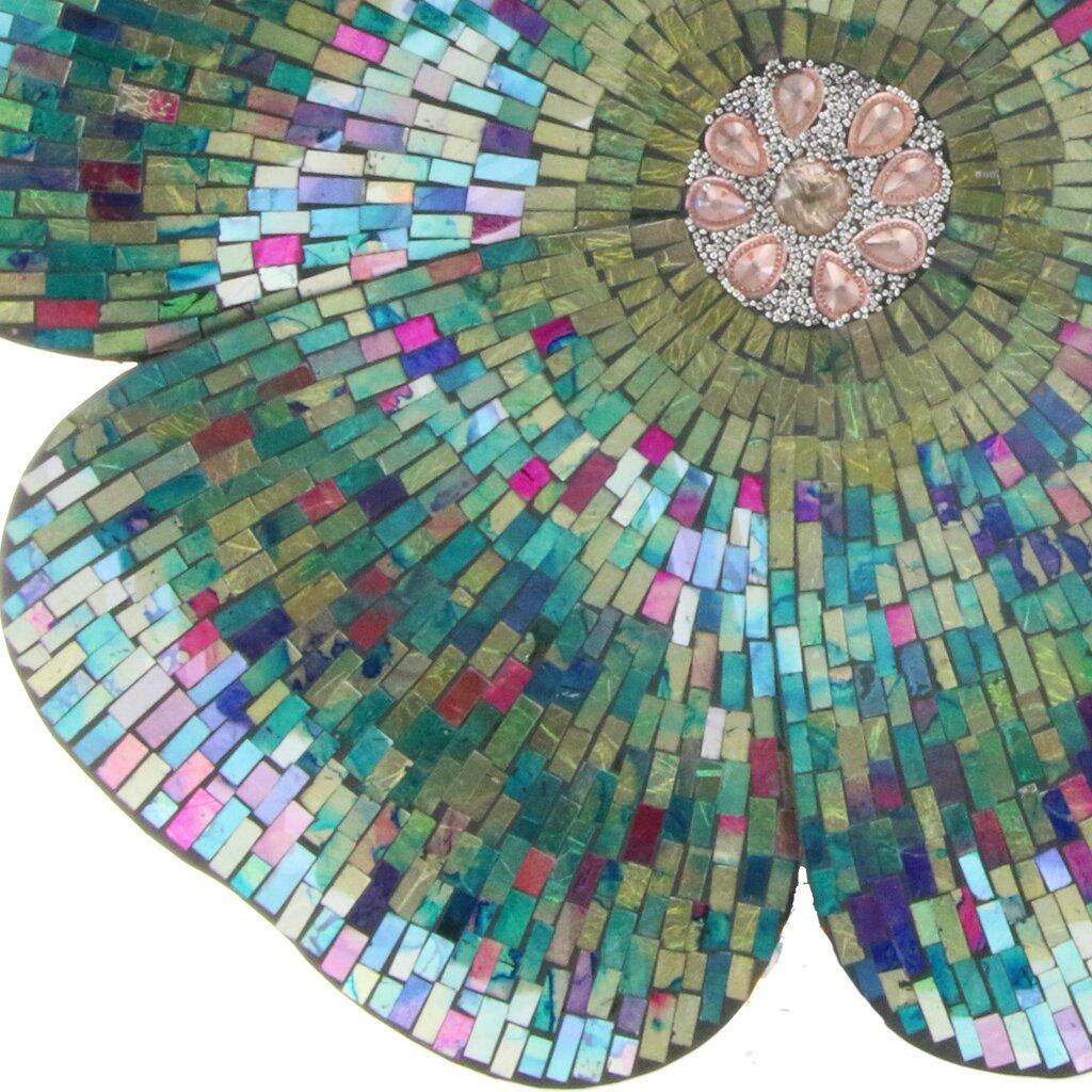 River Of Goods Mosaic Glass Flower Wall Décor & Reviews