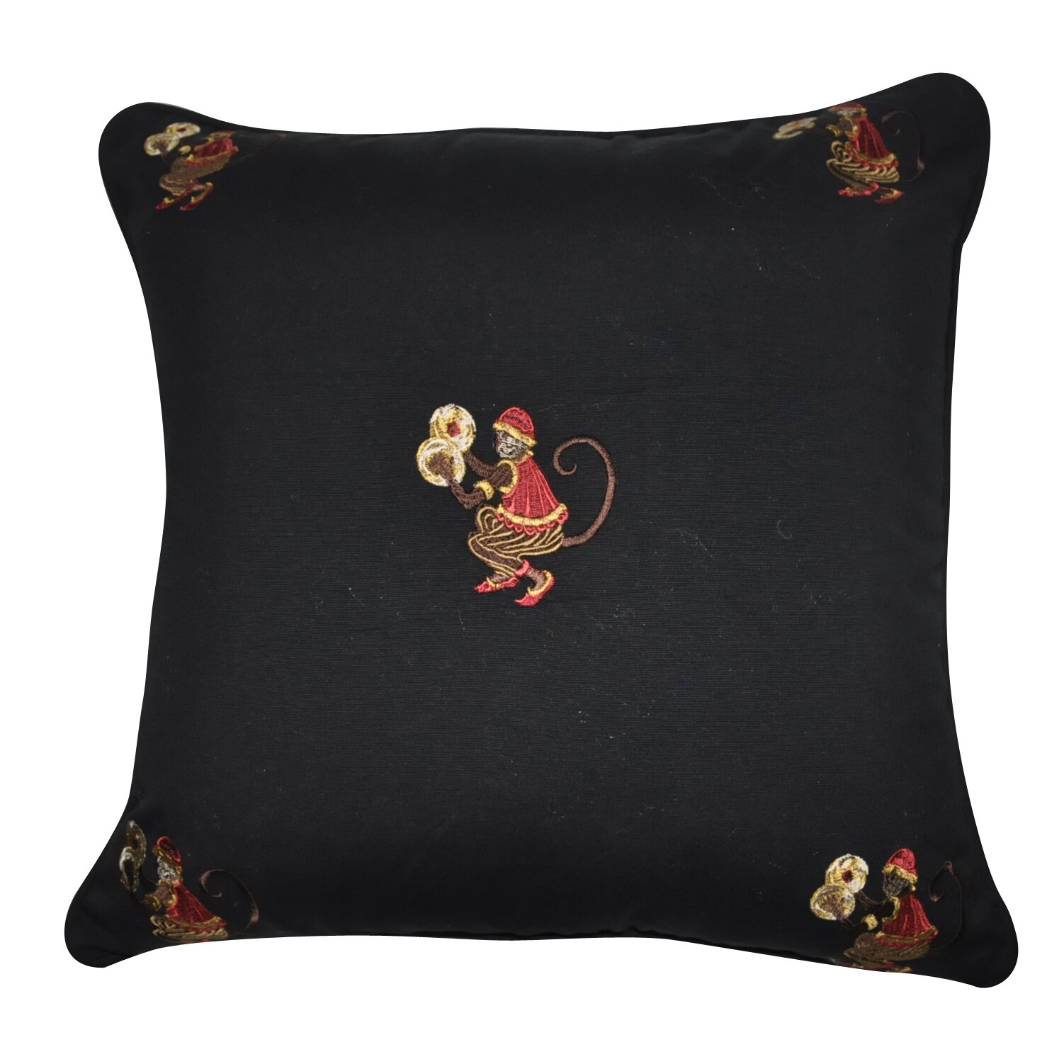 Black Cotton Throw Pillows : Loom and Mill Decorative Cotton Throw Pillow & Reviews Wayfair