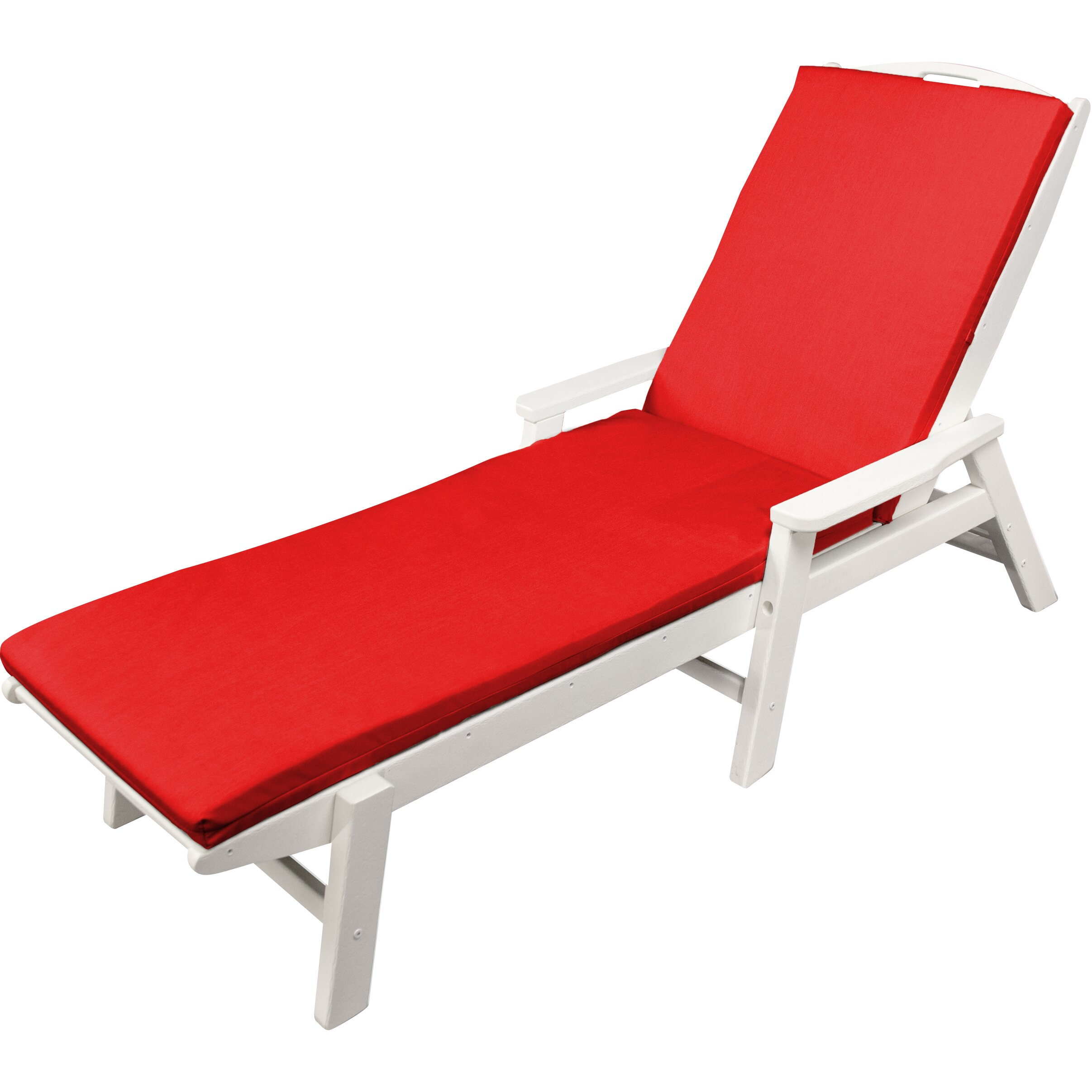 Ateeva outdoor sunbrella chaise lounge cushion reviews for Chaise lounge cushion outdoor
