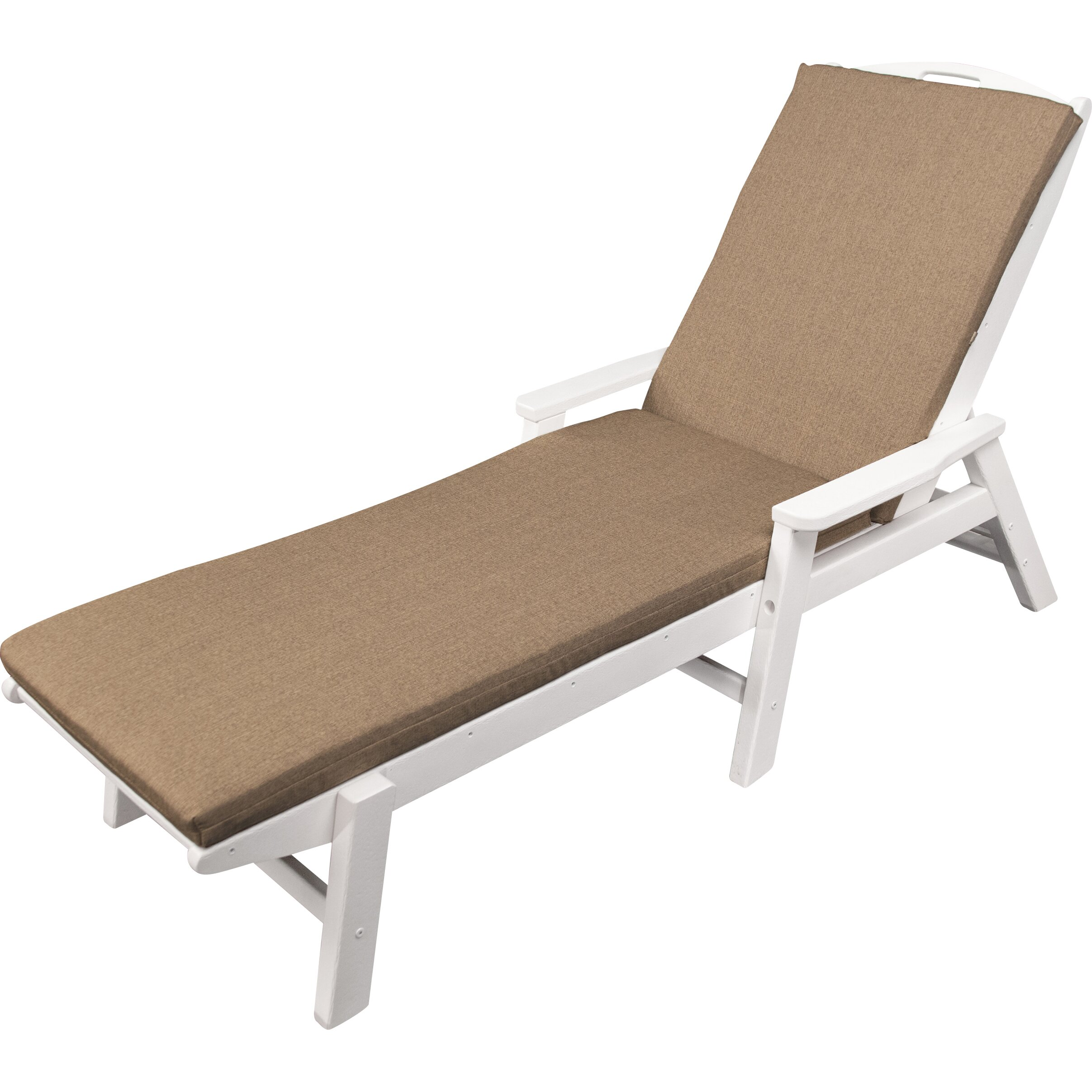 Ateeva outdoor sunbrella chaise lounge cushion reviews for Chaise longue cushions