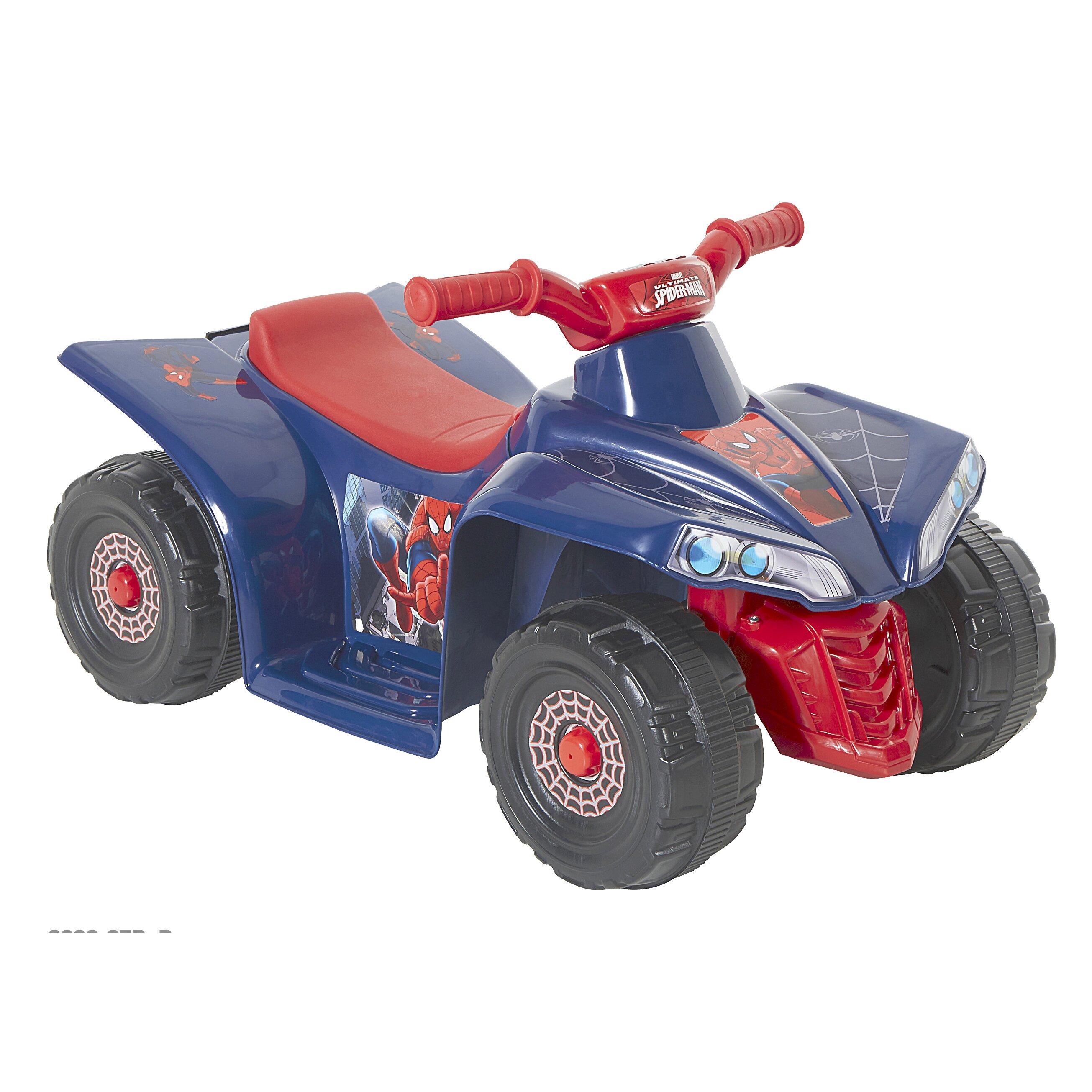 Dynacraft spider man 6v battery powered little quad reviews wayfair - Quad spiderman ...