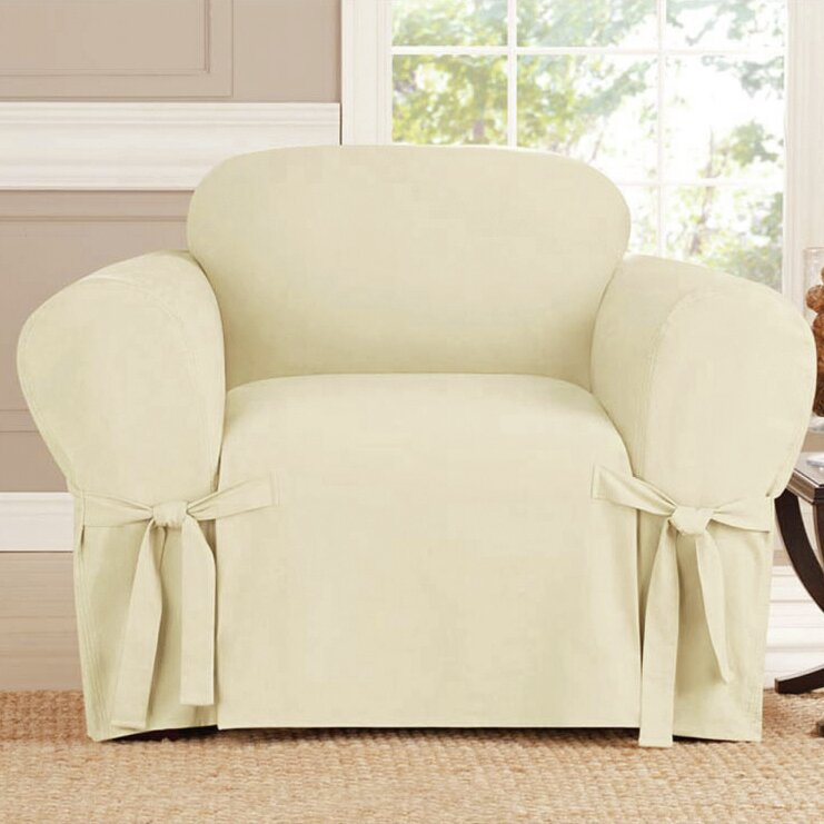 kashi home arm chair box cushion slipcover reviews wayfair