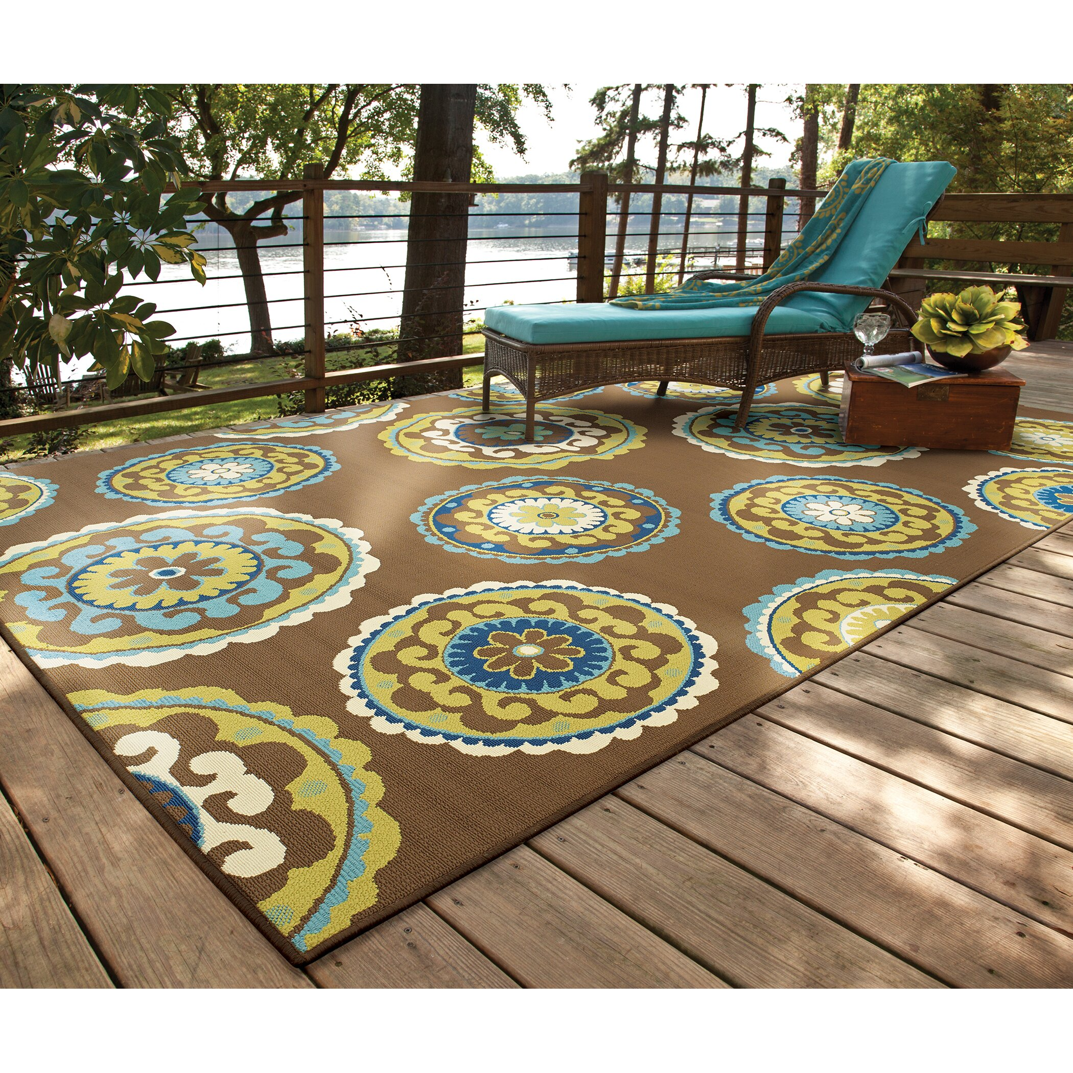 Threadbind Newfield Brown/Green Indoor/Outdoor Area Rug