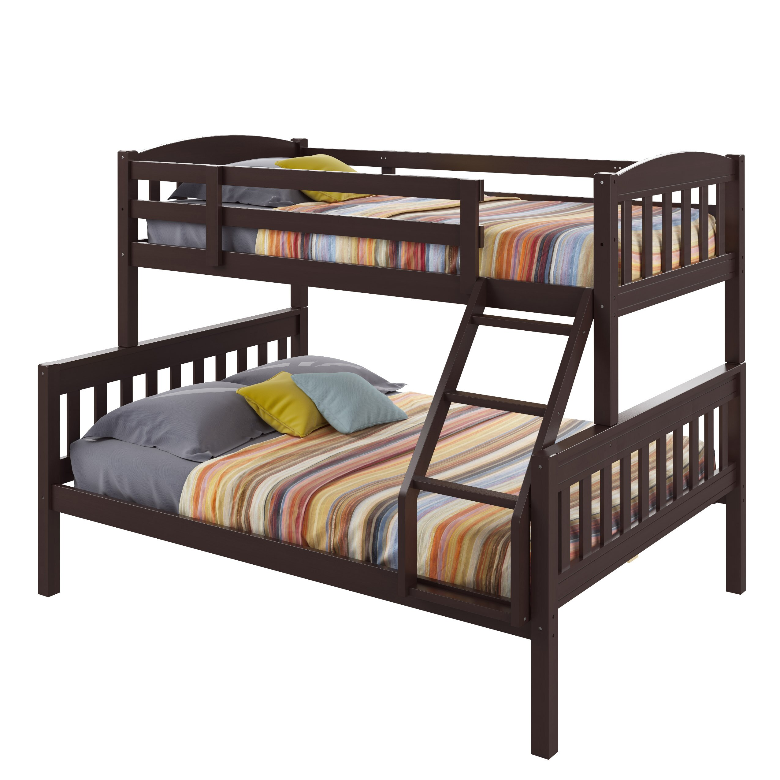 Corliving apollo twin over full bunk bed reviews wayfair for Full bed with mattress included