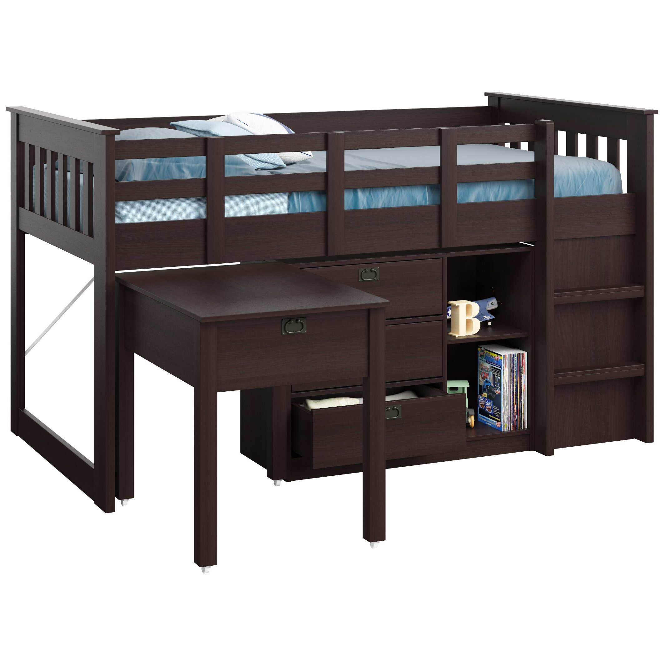 CorLiving Madison Twin Low Loft Bed with Storage & Reviews