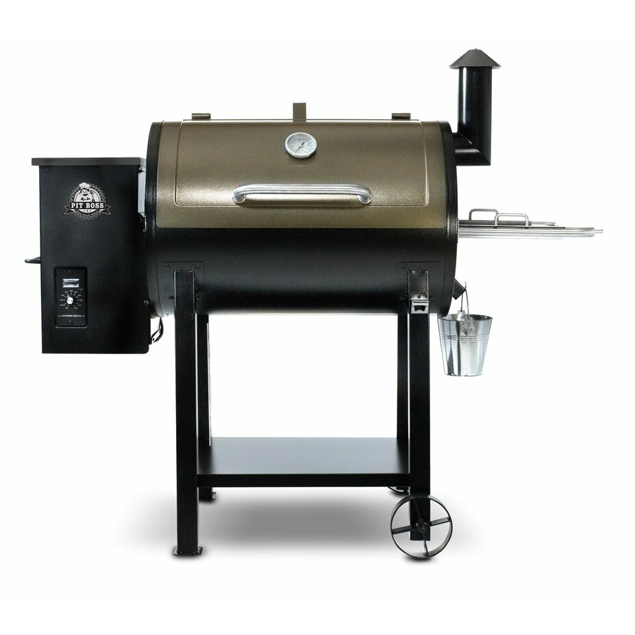 Pit boss 820d pellet grill with cover and spice pack wayfair for Pit boss pellet grill