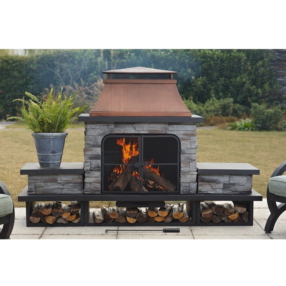 outdoor wood fireplace kits outdoor designs