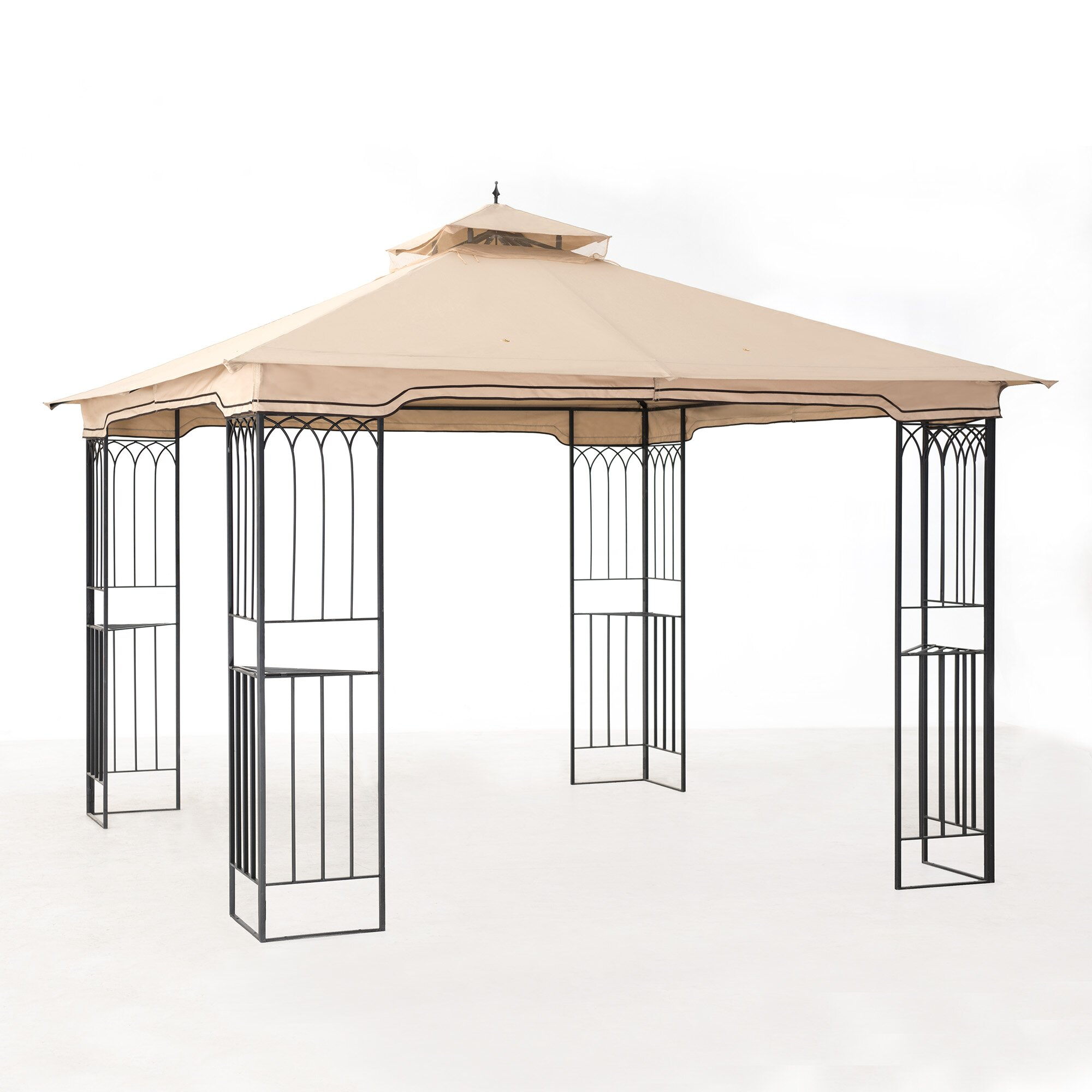 Steel Portable Gazebo : Sunjoy ft w d metal portable gazebo reviews