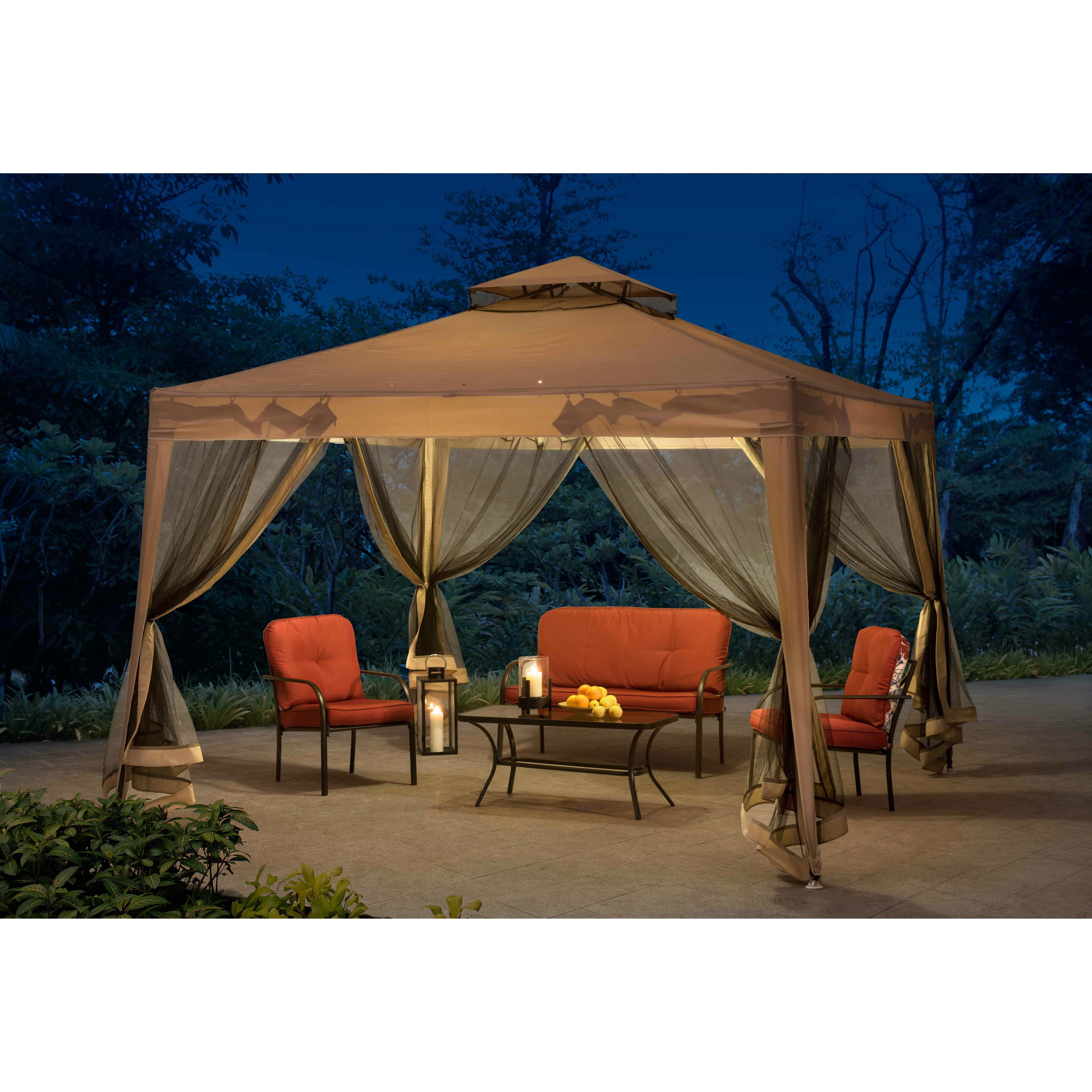 10 Ft 10 Ft Canopy : Sunjoy catania ft w d metal portable gazebo