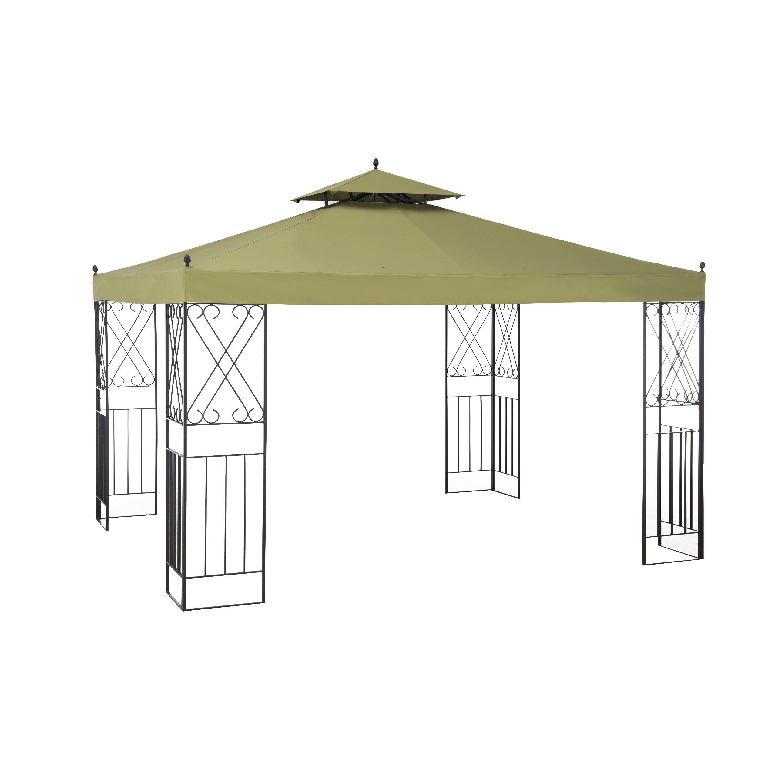 Steel Portable Gazebo : Sunjoy sparta ft w d soft top metal portable