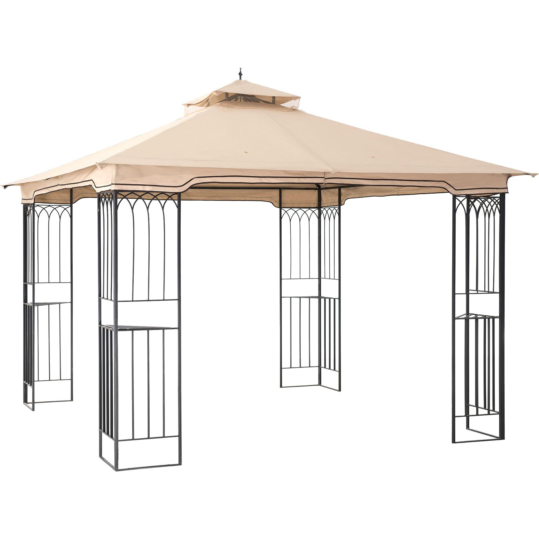 10 Ft 10 Ft Canopy : Sunjoy ft w d gazebo reviews wayfair
