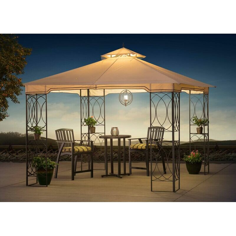 Steel Portable Gazebo : Sunjoy james aim ft w d metal portable gazebo