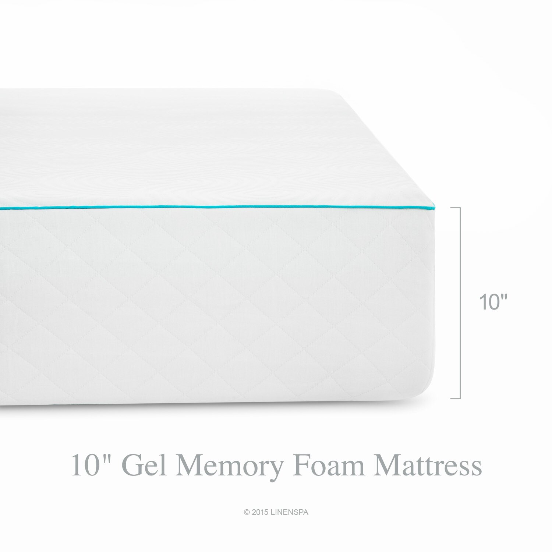 "Linenspa 8"" Gel Memory Foam Mattress & Reviews"